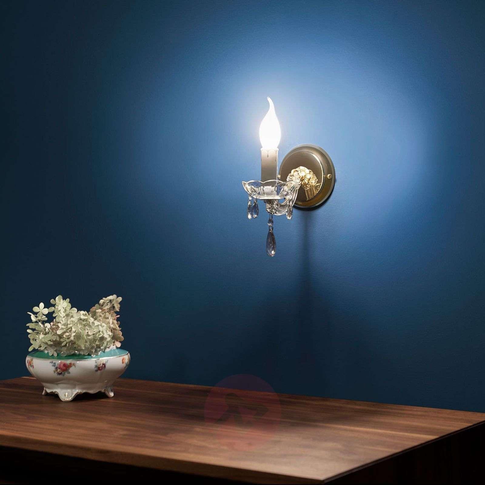 1-lamppuinen DOLORES-seinävalaisin, kristalleja-7253345-01