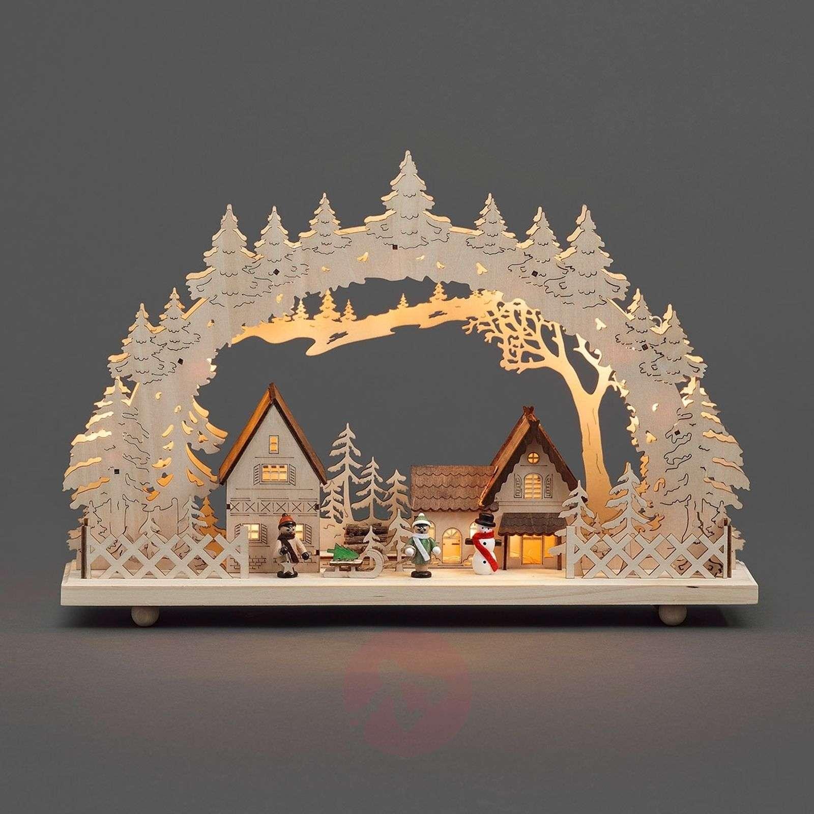 10-lamppuinen LED-kaarikynttelikkö Kylä-5524369-01