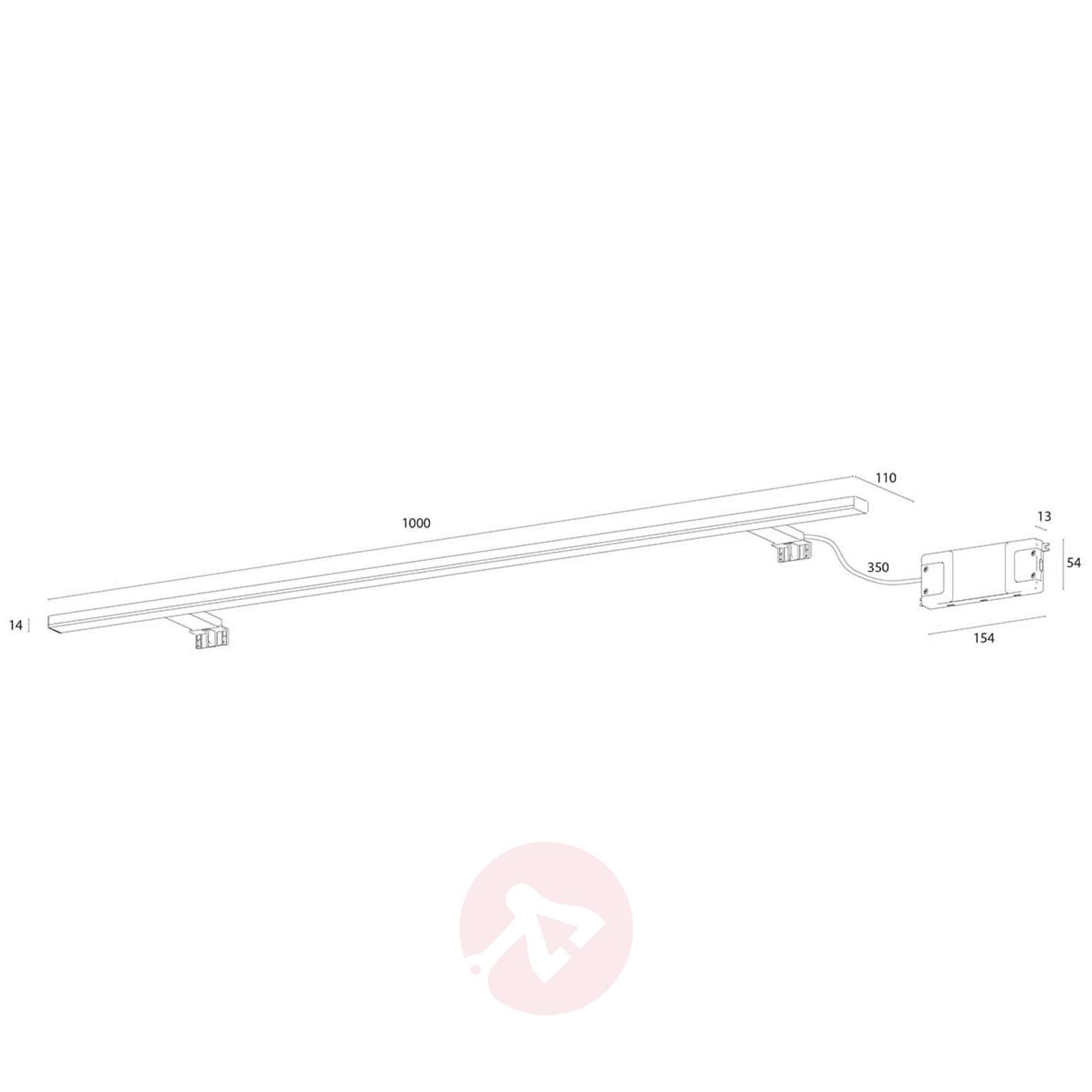 100 cm:n levyinen LED-peilivalaisin Esther-3052055-03
