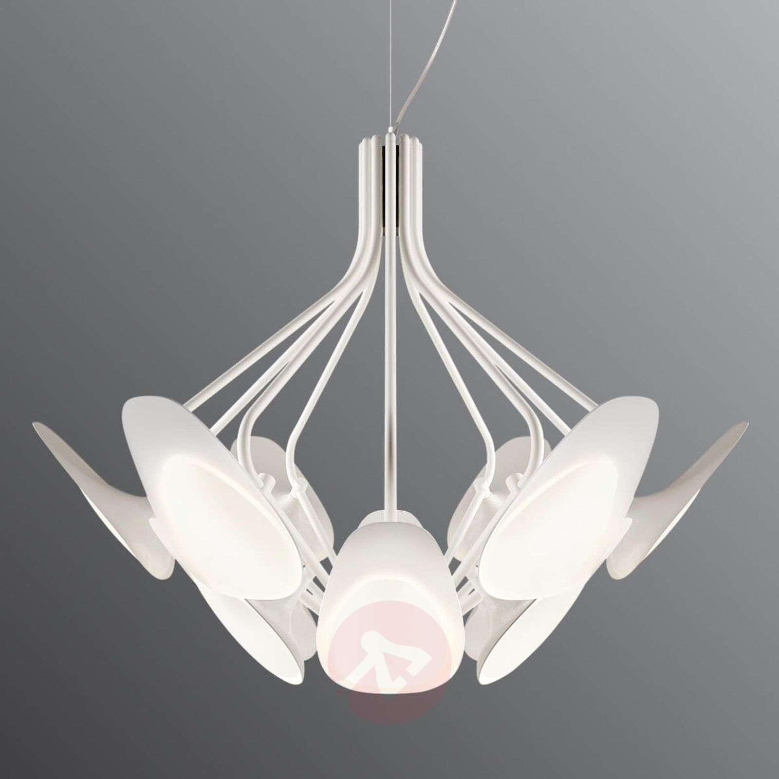 12-lamppuinen LED-riippuvalaisin Peacock valkoinen-5520174-01