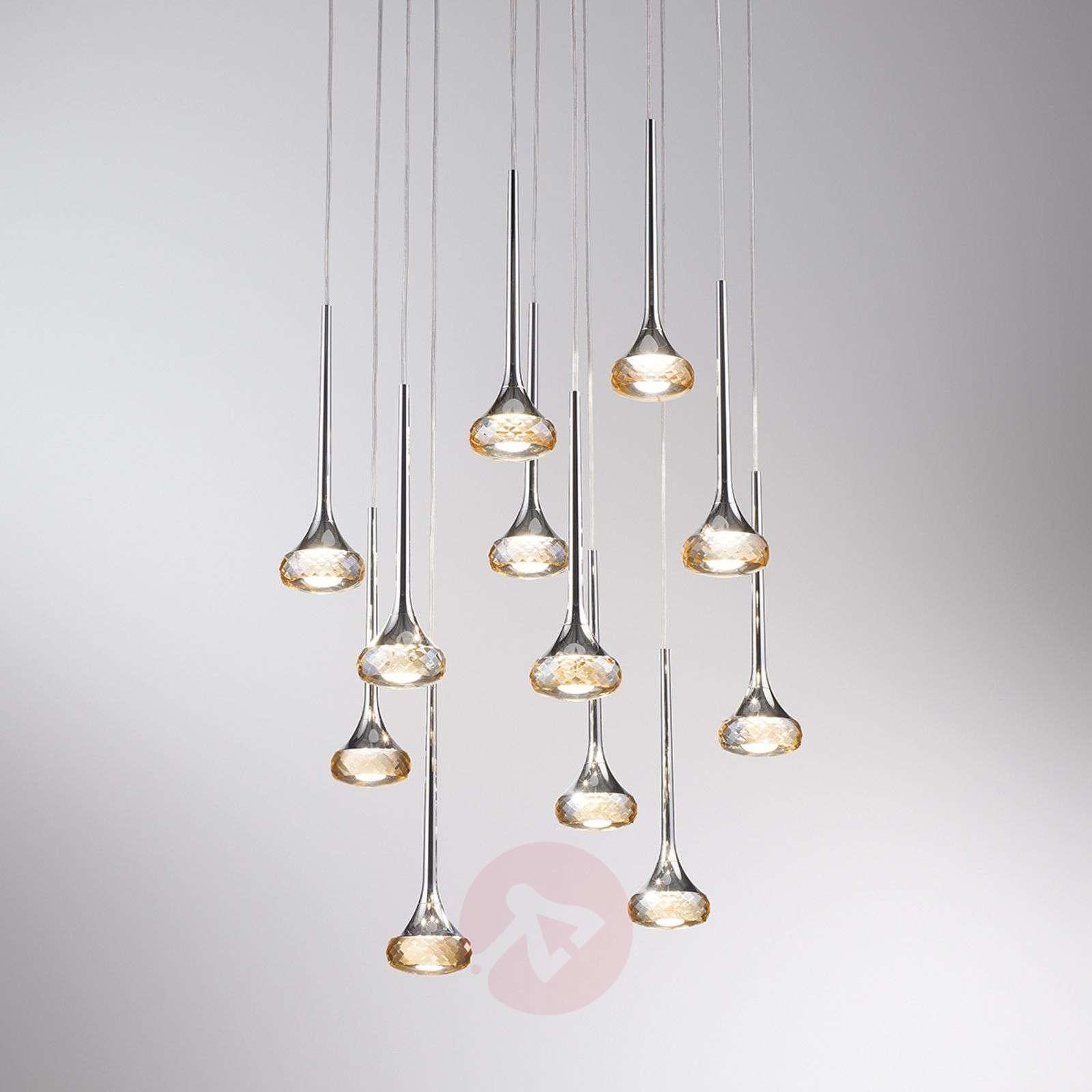 12-osainen Fairy-LED-riippuvalaisin, meripihka-1088058-01