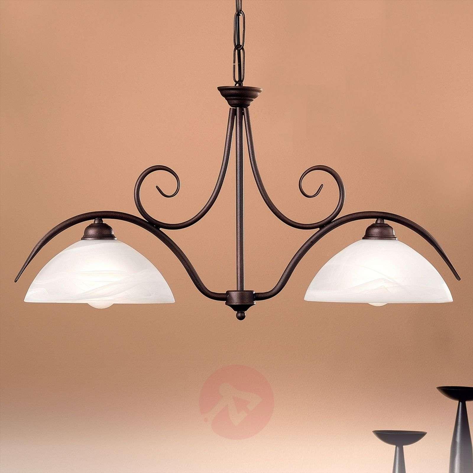 2-lamp. JANA-riippuvalaisin alabasterilasia-7253100-01