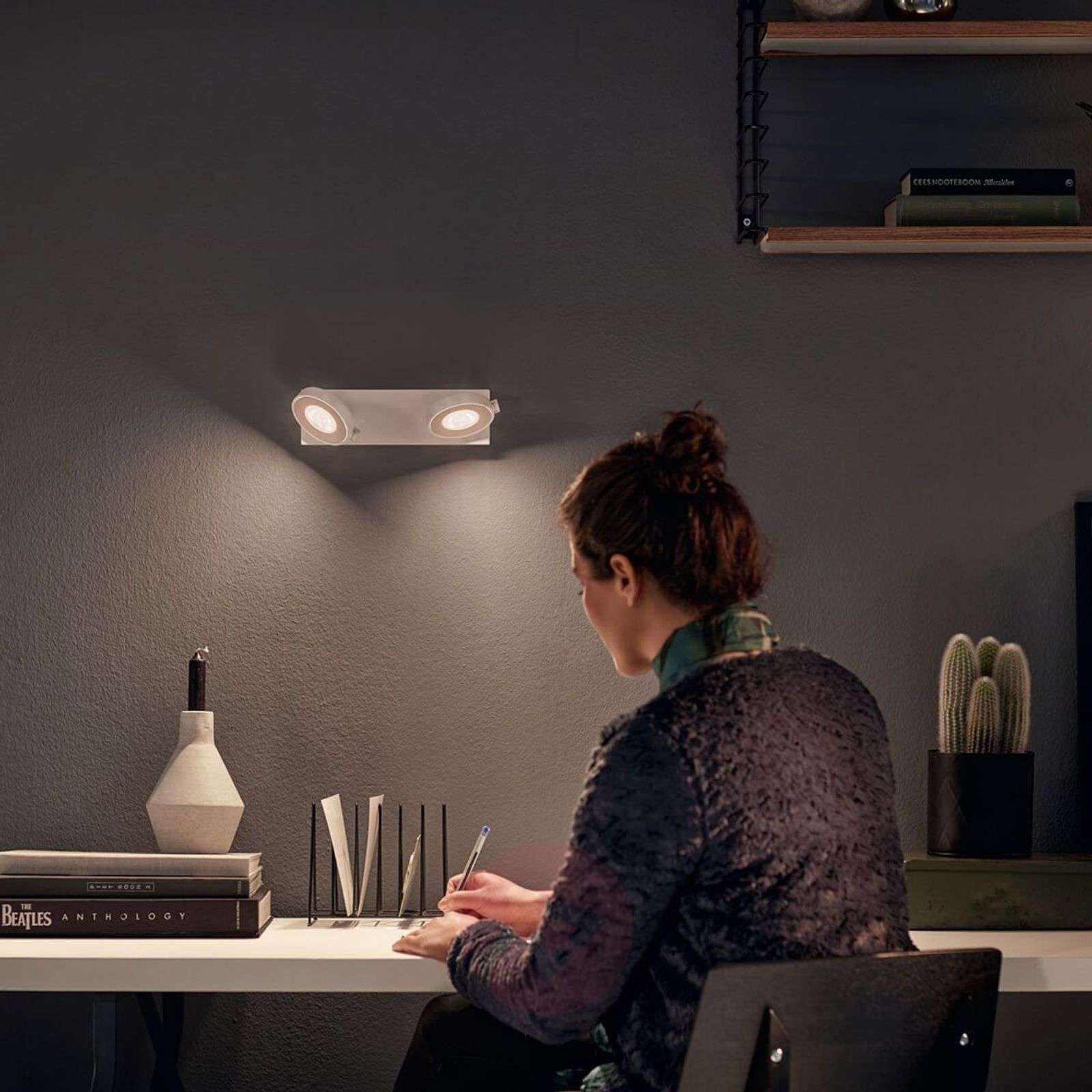 2-lamp. LED-spottivalo Clockwork WarmGlow-toiminto-7531960-01
