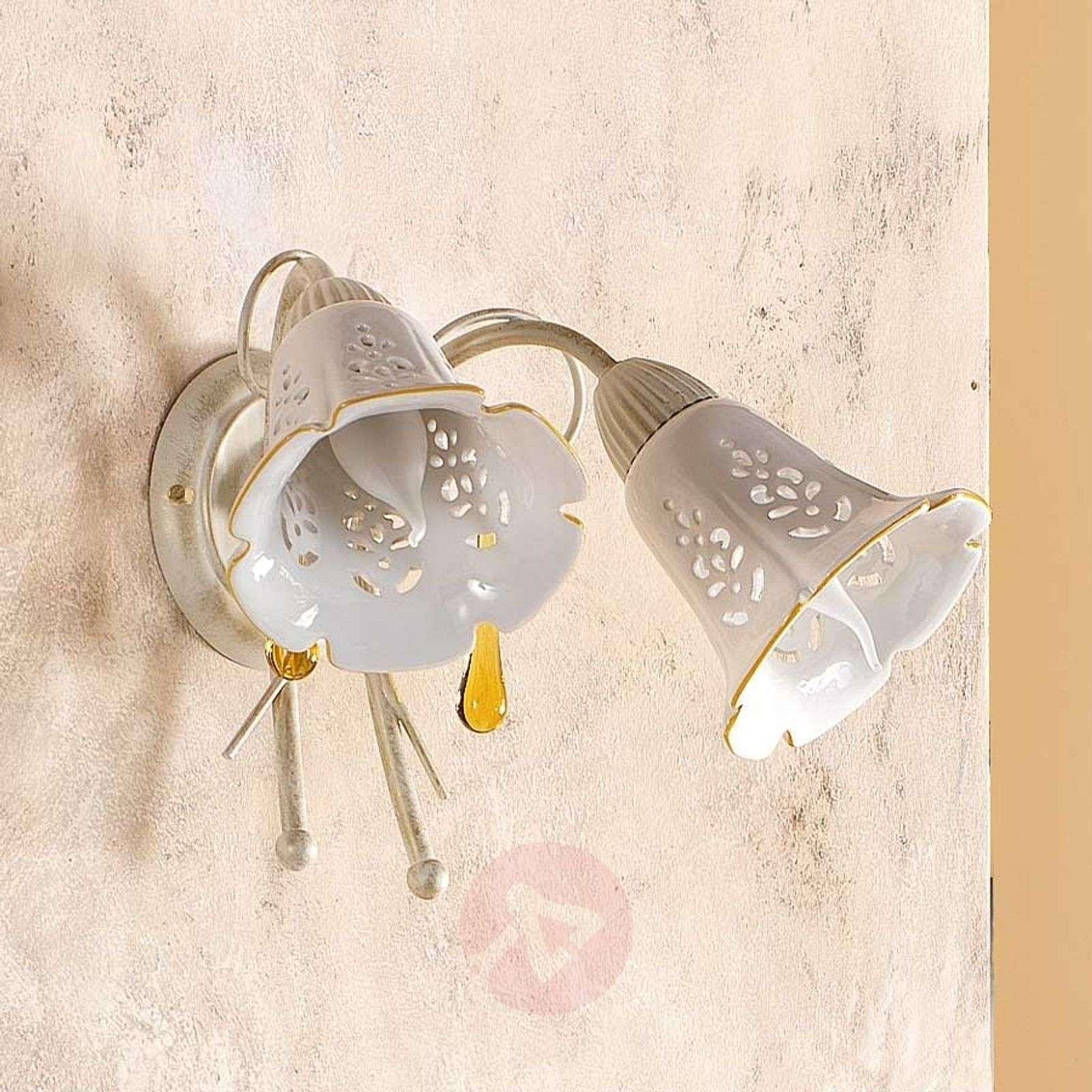 2-lamppuinen Gocce-seinävalaisin-2013077-01