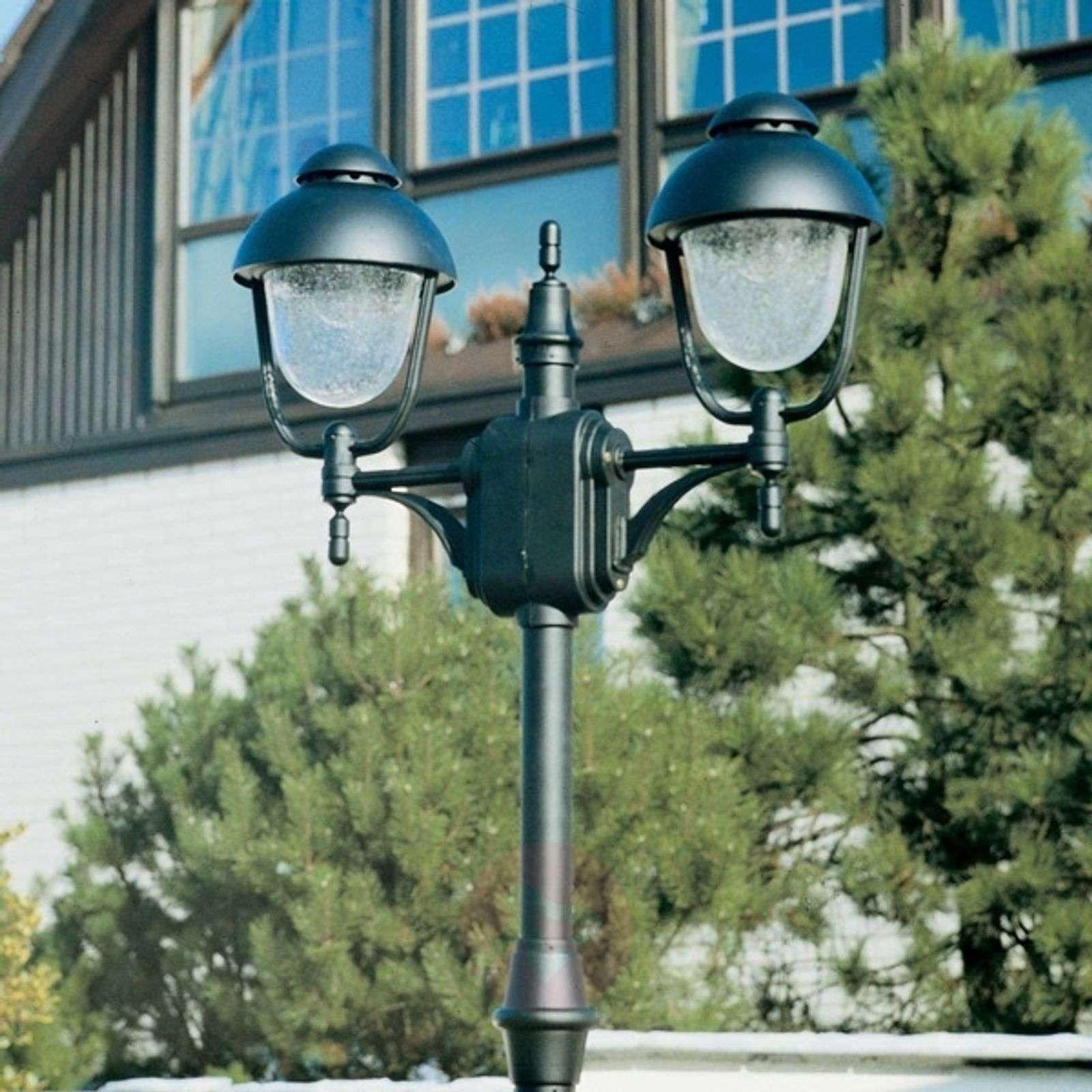 2-lamppuinen lyhtypylväs 695, musta-4001695-01