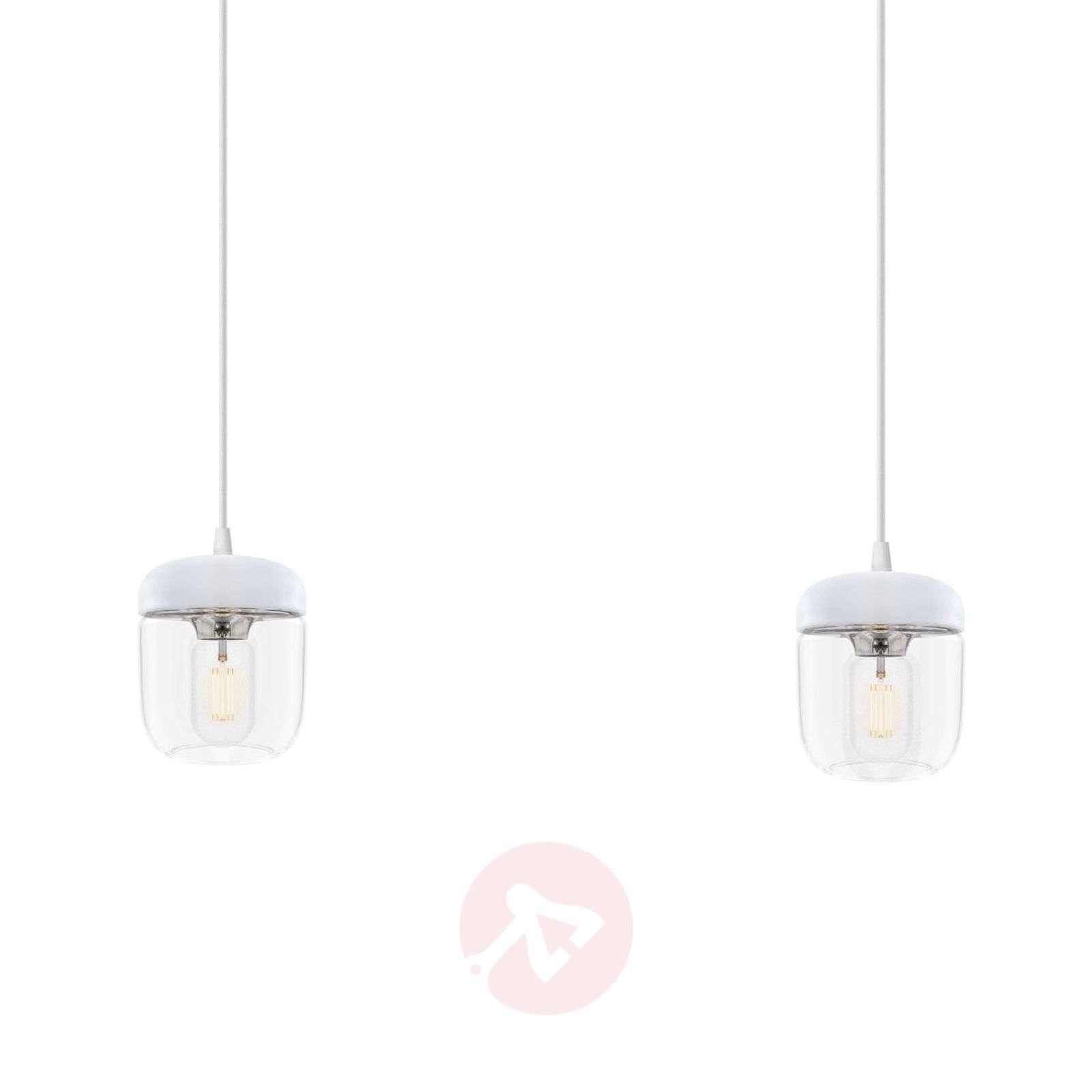 2-lamppuinen riippuvalaisin Acorn valkoinen, teräs-9521084-01