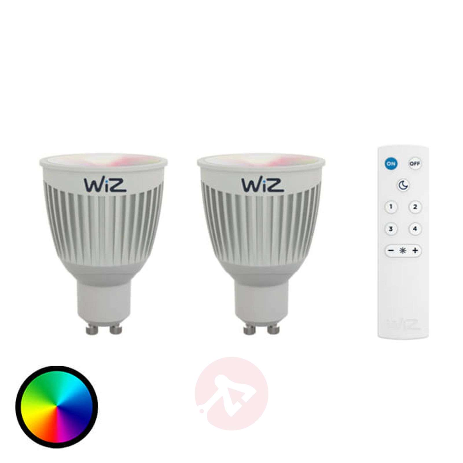 2 x LED-lamppu GU10 WiZ, kaukosäätö, RGB + valk.-9038078-01