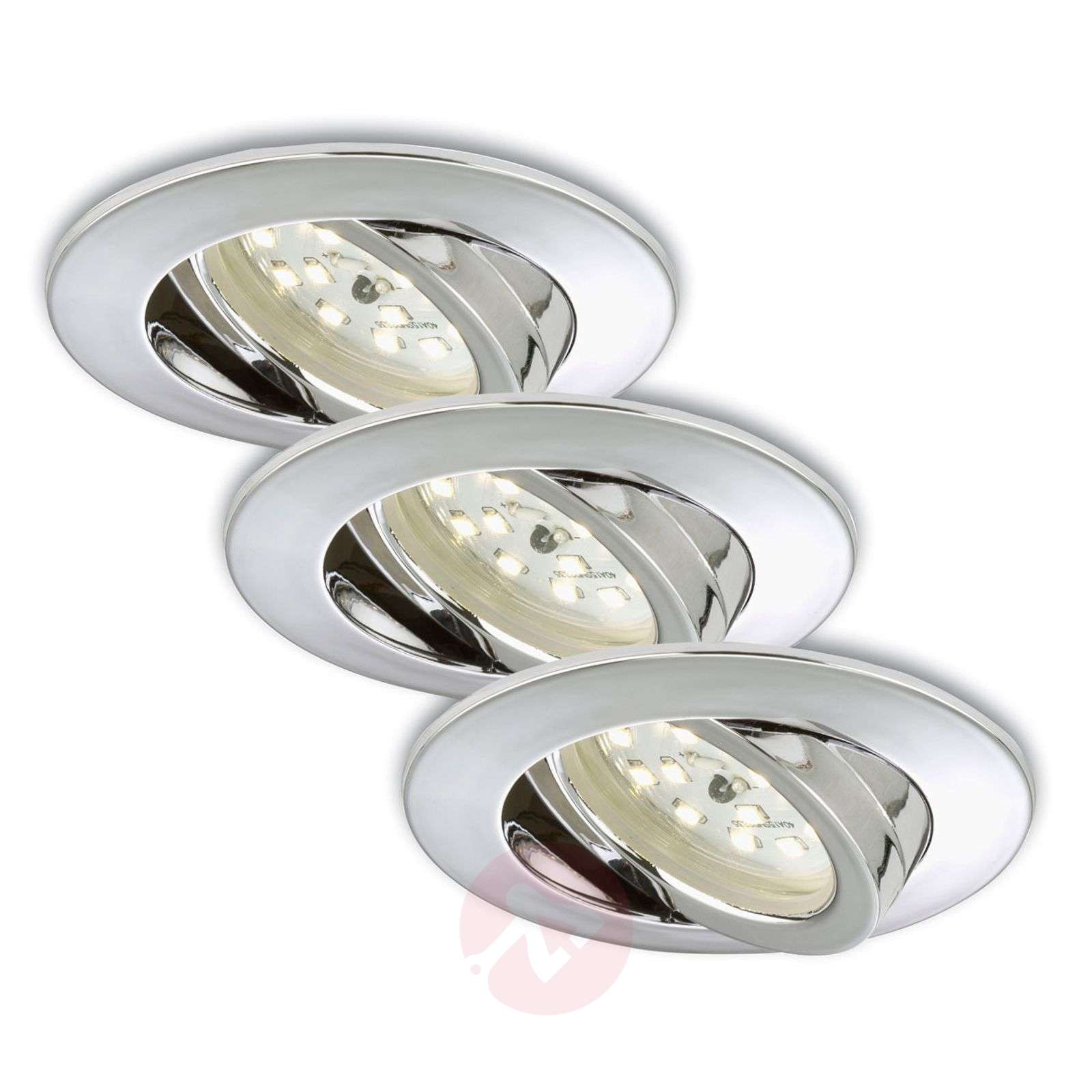 3 kpl:n setti – Erik-LED-uppokohdevalaisin kromi-1510285-01