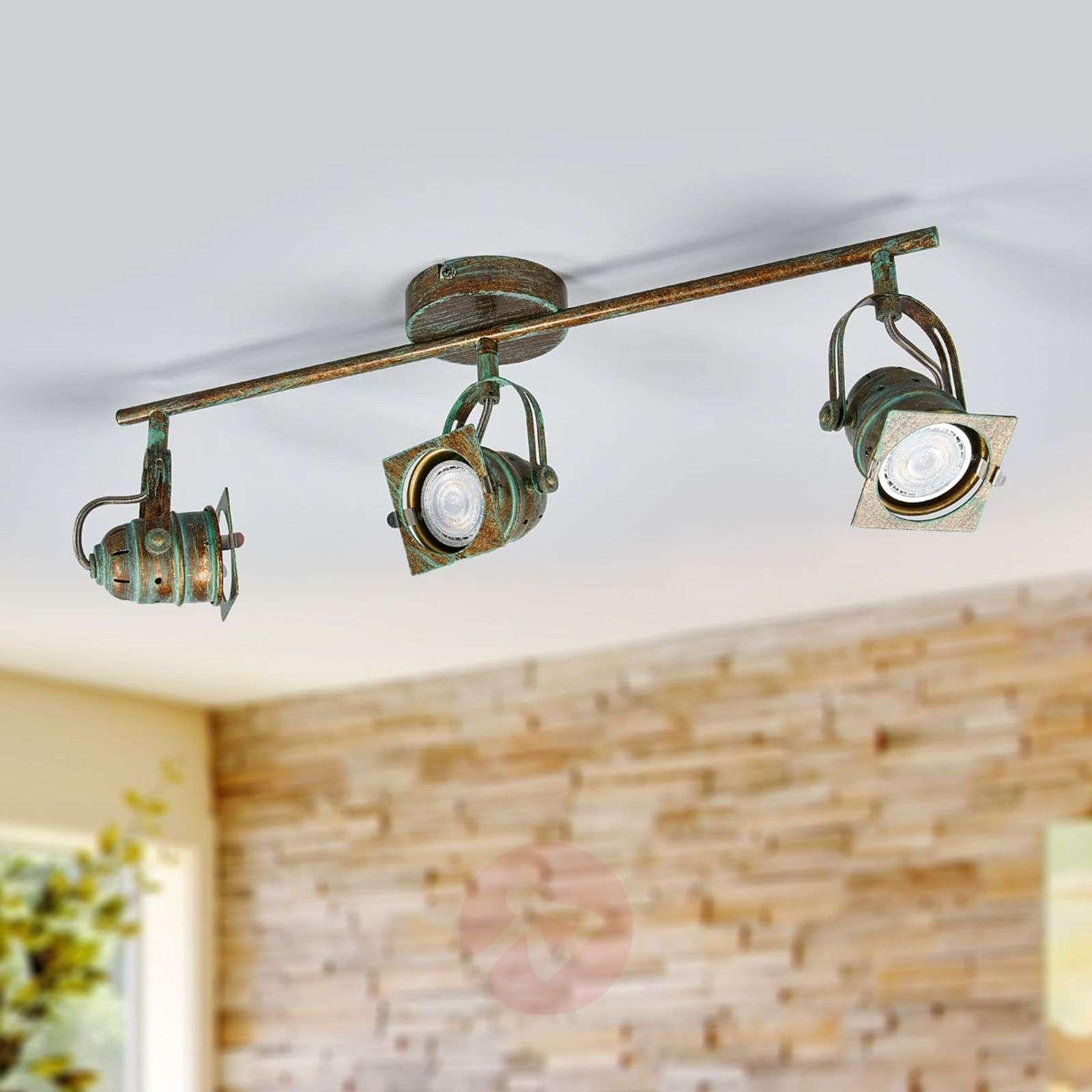 3-lamp. LED-kattokohdevalo Janek, antiikkityyli-9639085-01