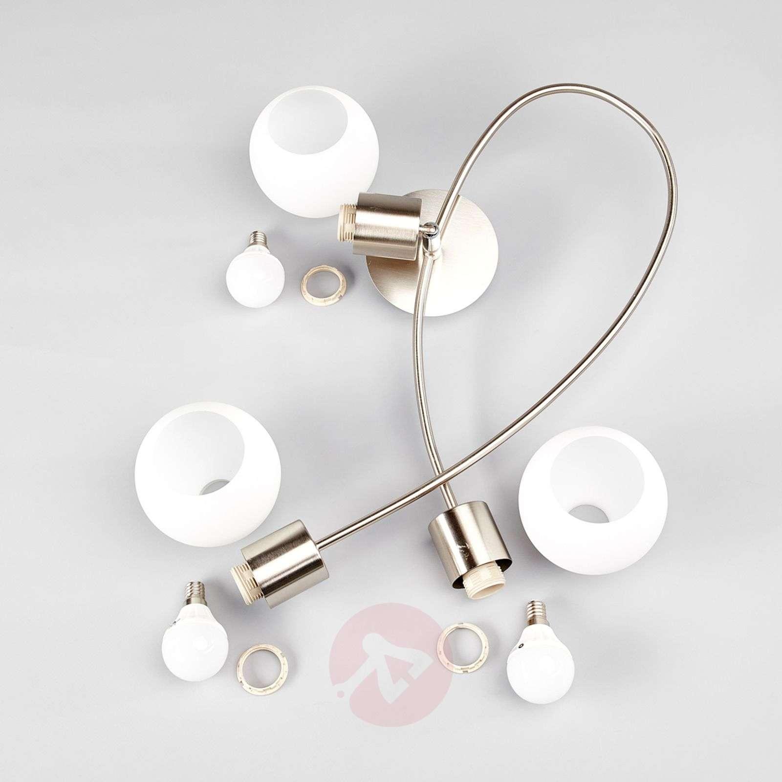 3-lamp. LED-kattovalaisin Elaina, matta nikkeli-9620032-01