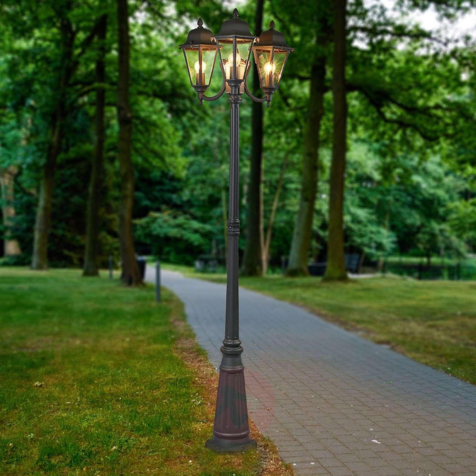 3-lamppuinen grafiitinharmaa kynttelikkö Edana-9630066-01