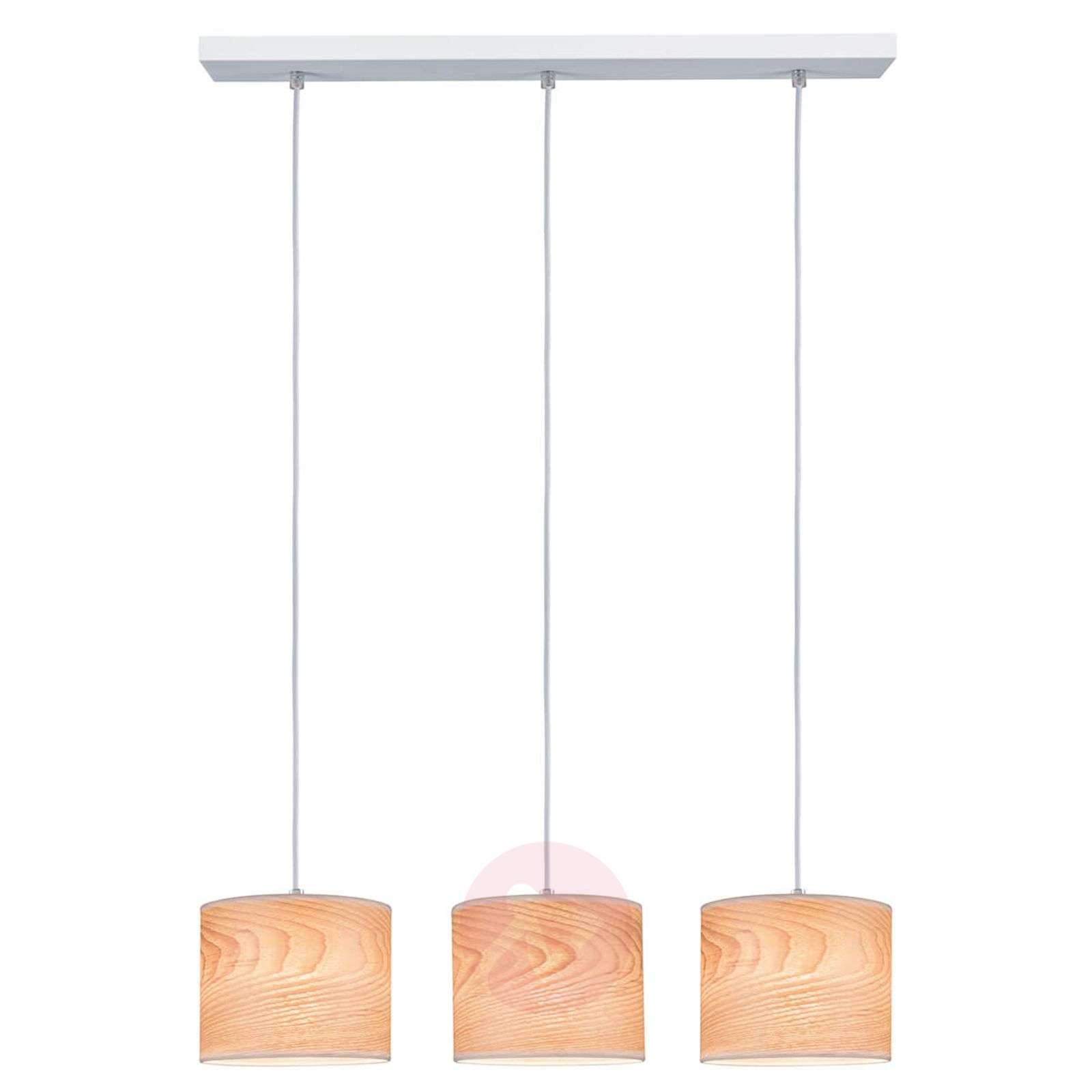 3-lamppuinen Neta-riippuvalaisin, luonnondesign