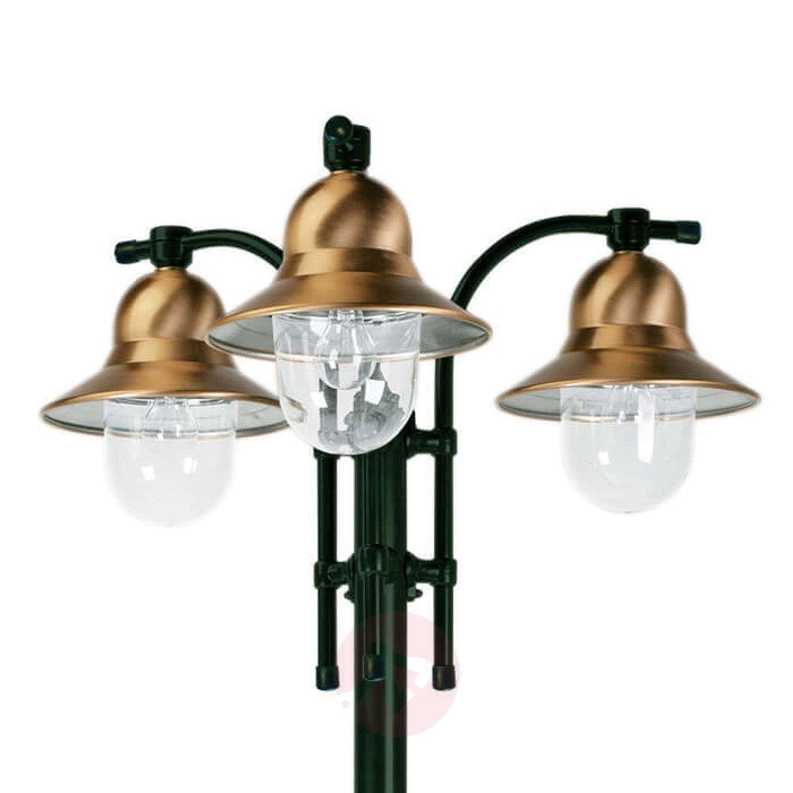 3-lamppuinen Toscane-lyhtypylväs, vihreä-5515092-01