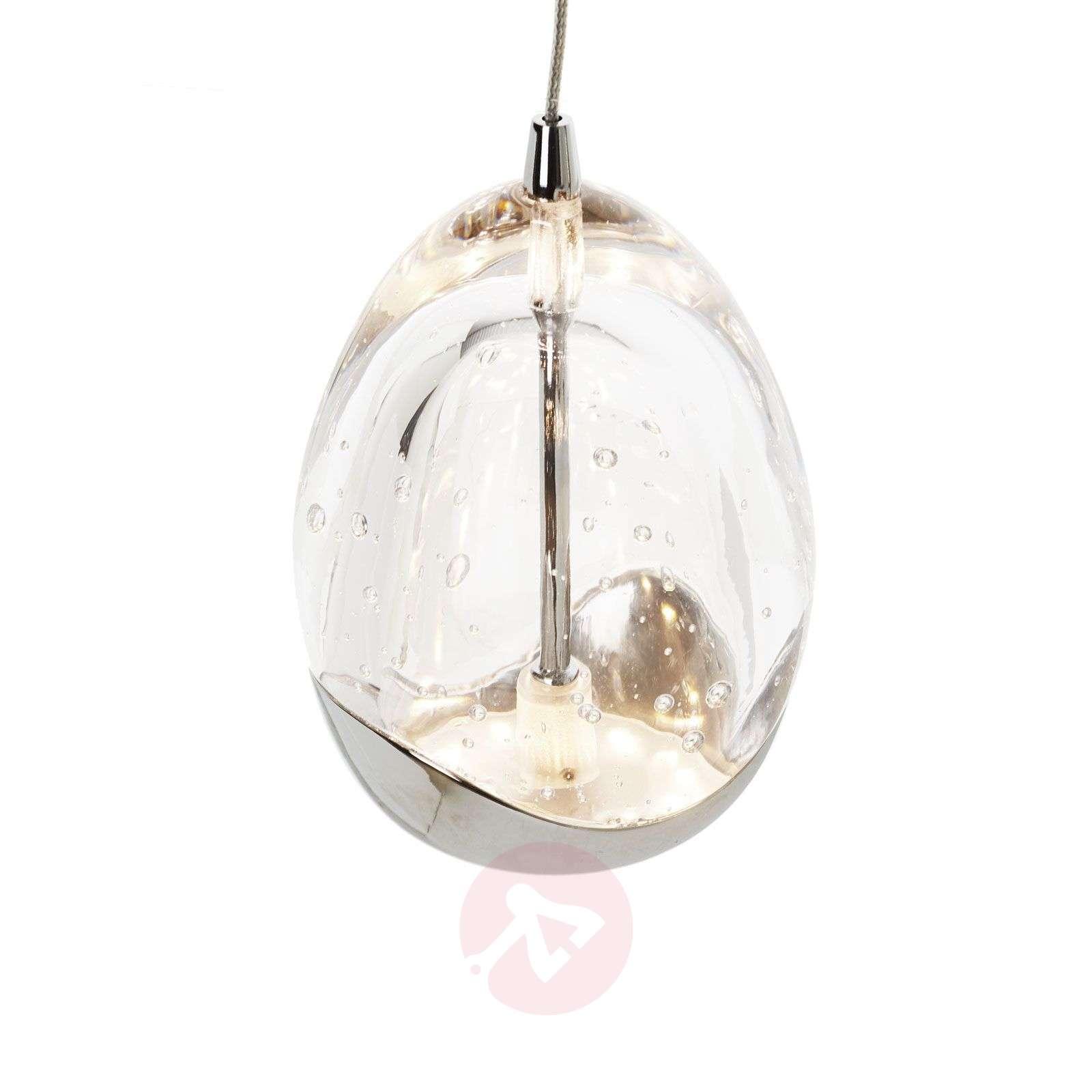 3-osainen, krominvärinen Rocio-LED-riippuvalaisin-8582305-01