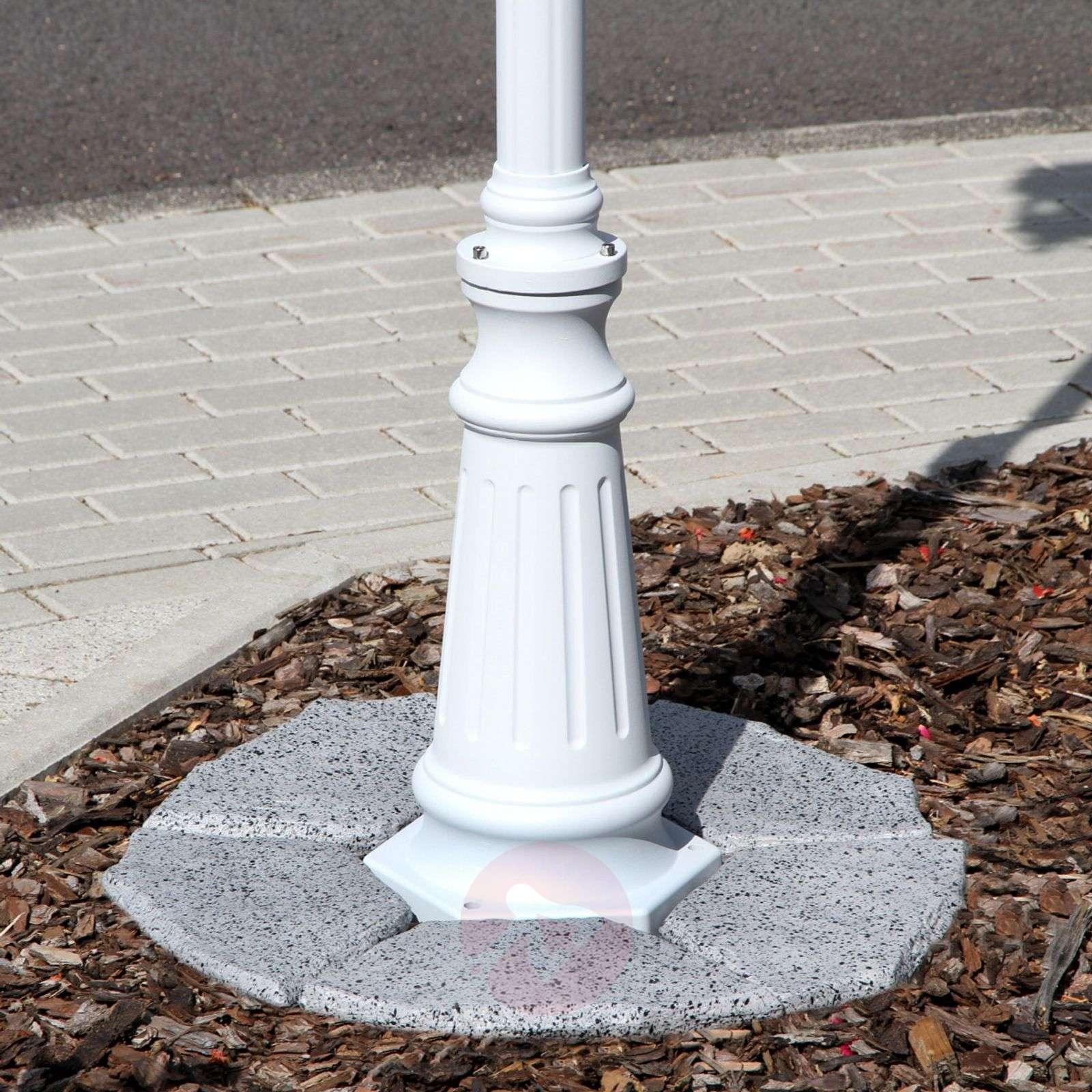 3-osainen valkoinen Lieva-valopylväs-9611015-05
