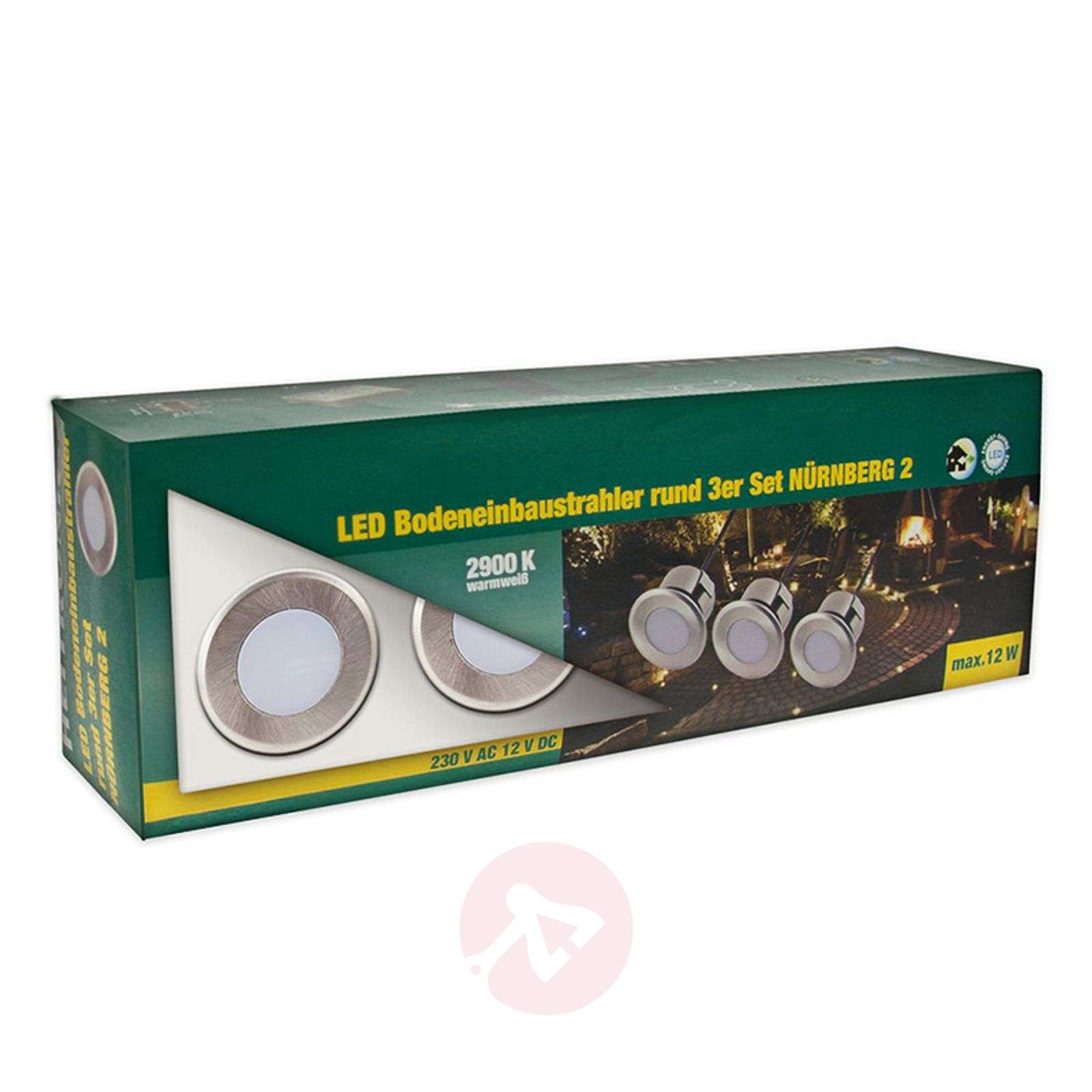 3-sarja LED-uppospotti Nürnberg III, pyöreä-9505881-01