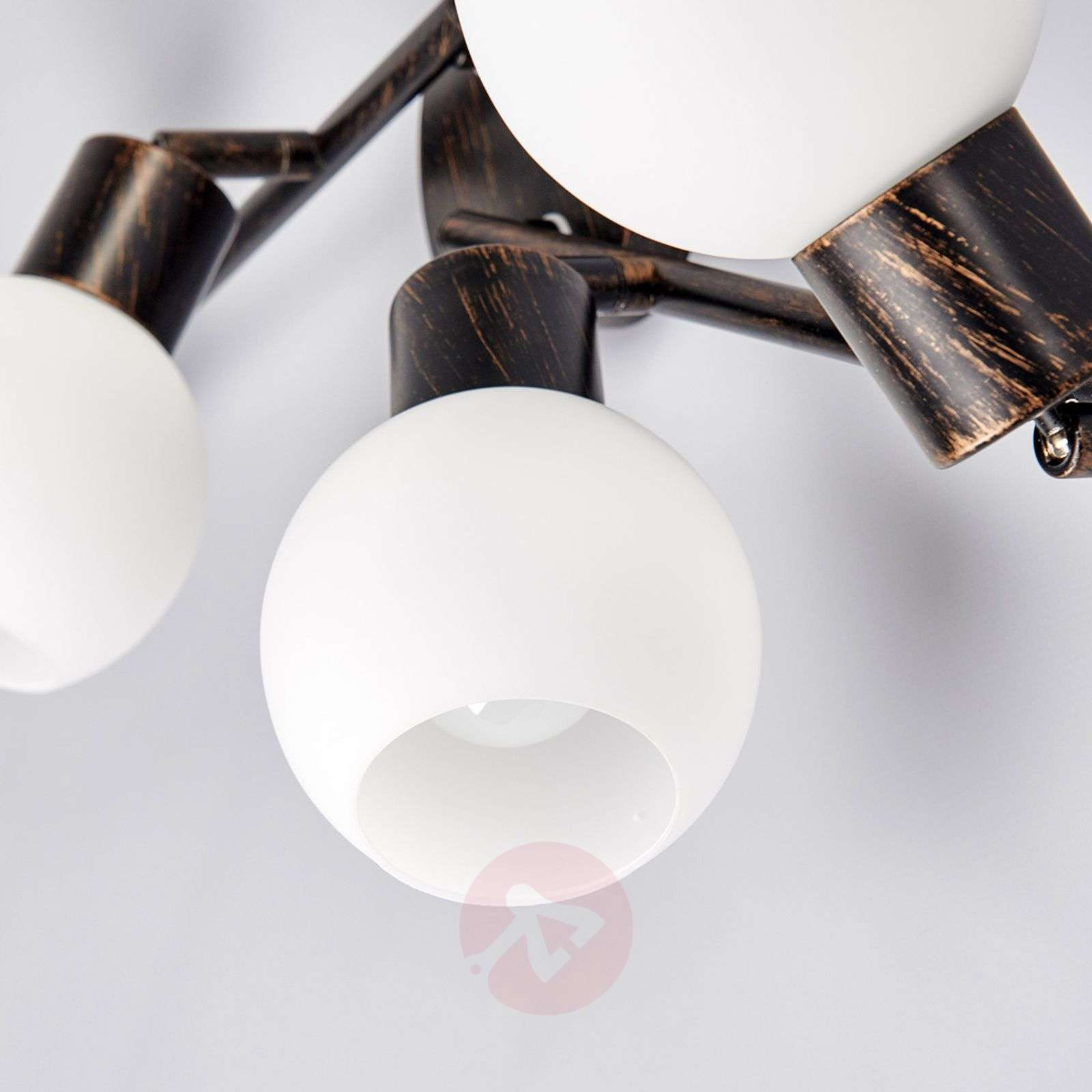 4-lamppuinen keittiön kattovalaisin Elaina, ruoste-9620025-01