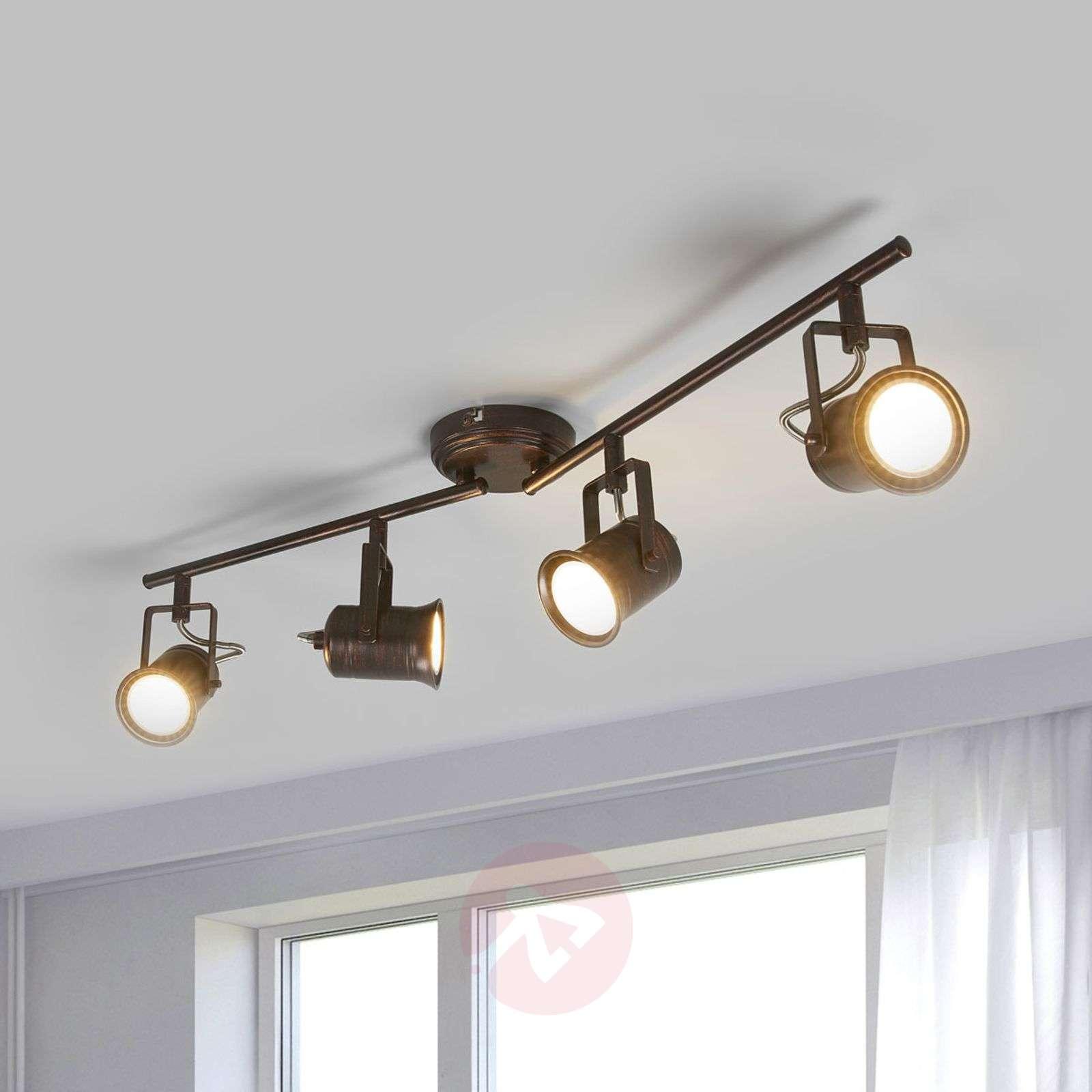 4-lamppuinen LED-kattovalaisin, rustiikkinen tyyli-9639075-01