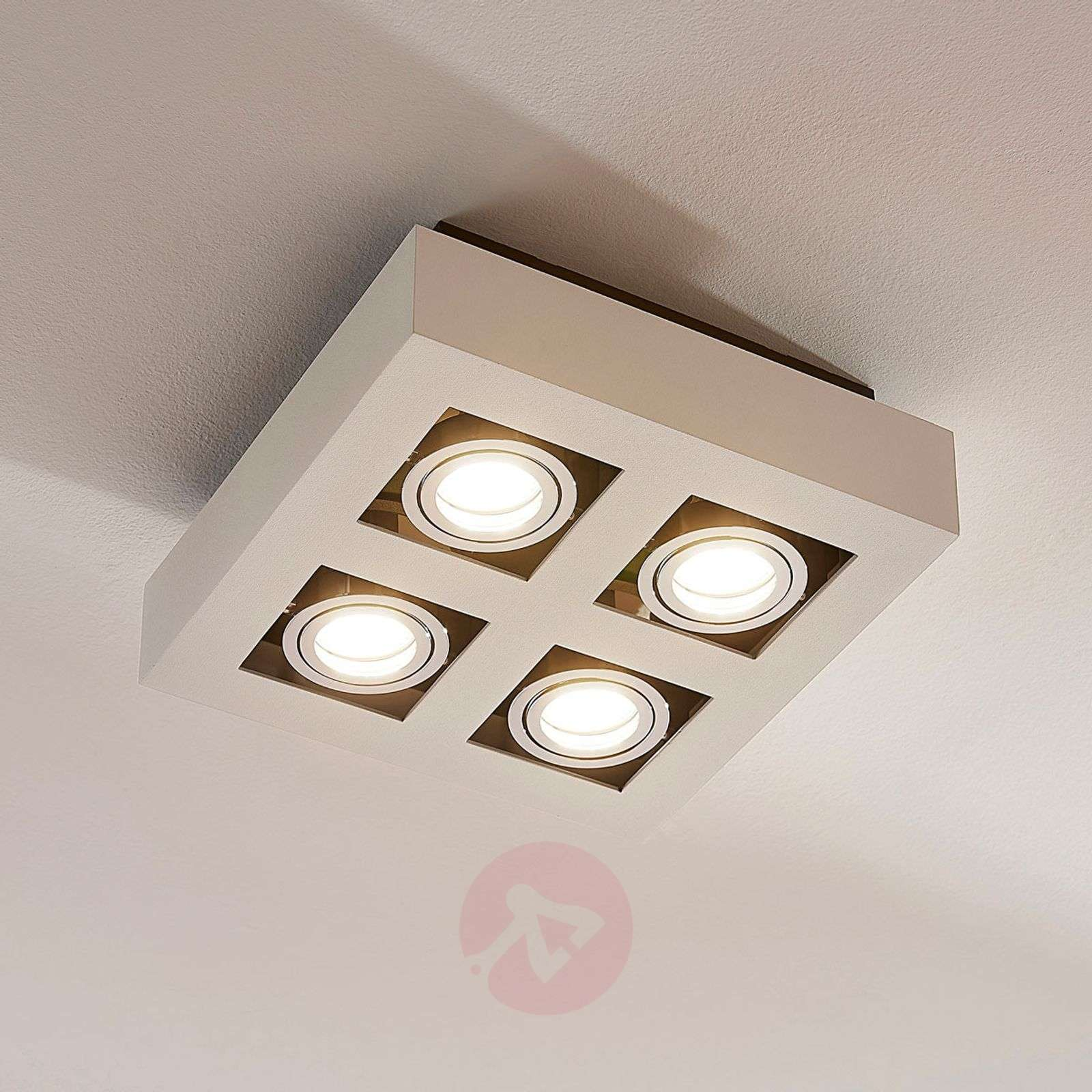 4-lamppuinen LED kattovalaisin Vince valkoisena-9620459-01