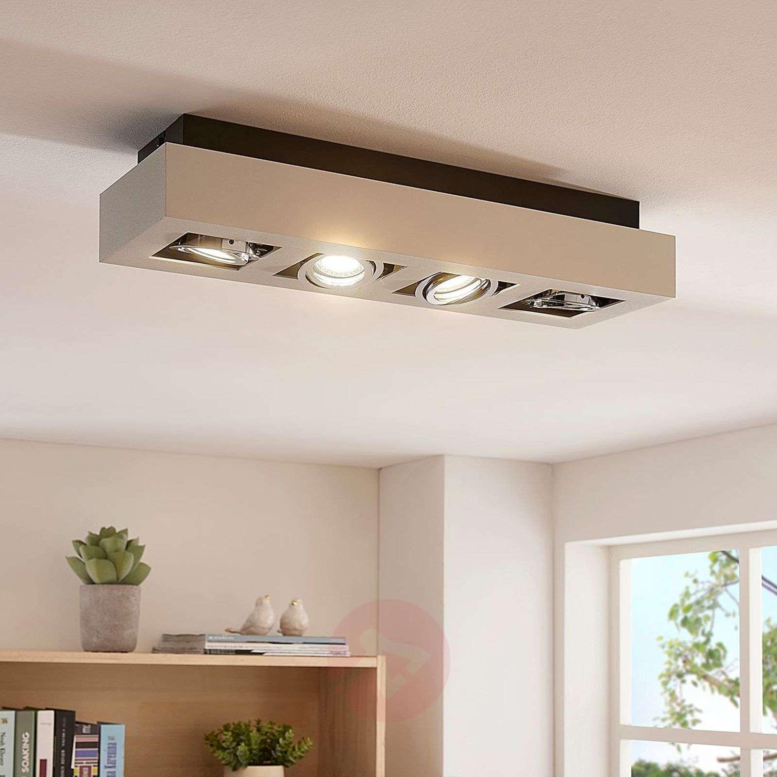 4-lamppuinen LED-kattovalaisin Vince valkoisena-9620460-09