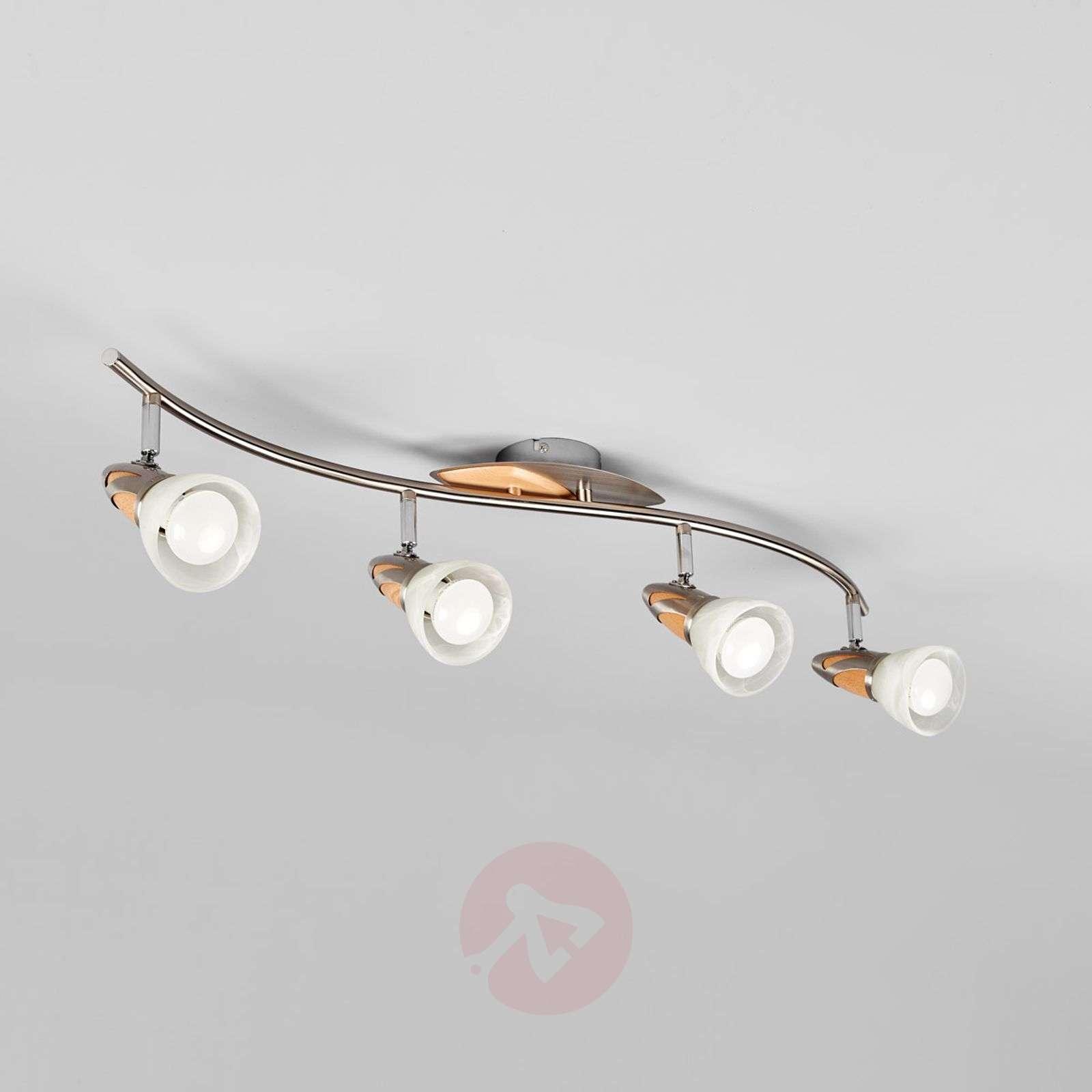 4-lamppuinen puukattovalaisin Marena, E14 LED-9620555-01