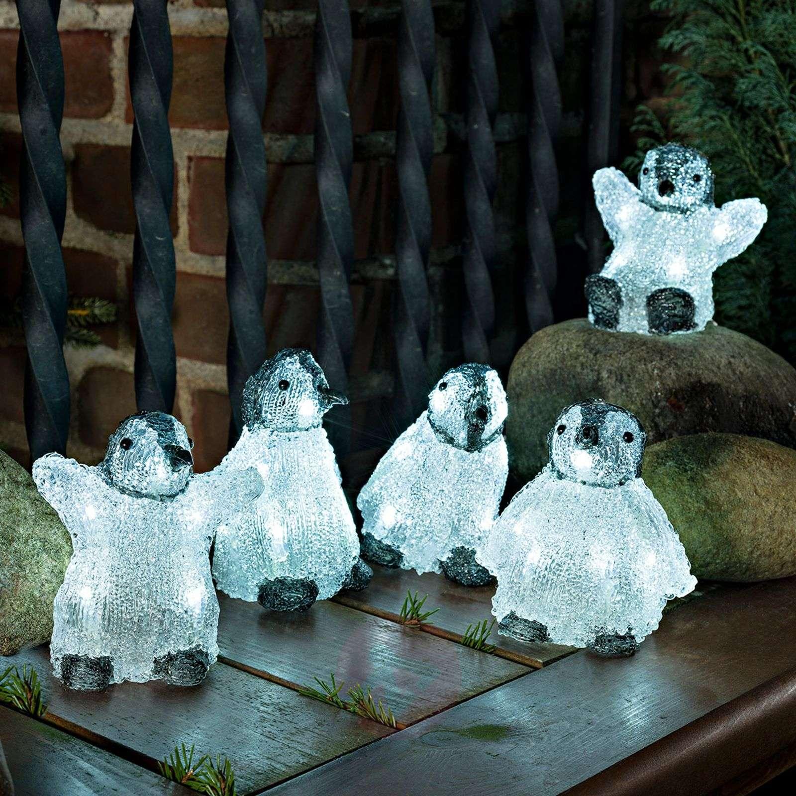 5 kpl:n setti LED-akryyli-figuurit, vauvapingviini-5524871-01