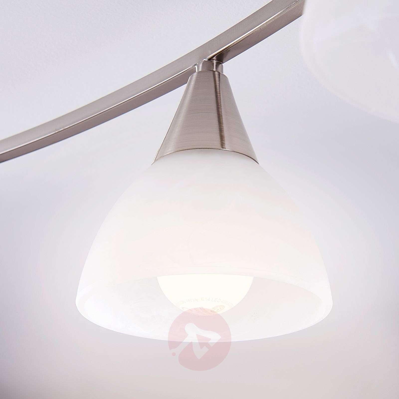 5-lampp. Della LED-kattovalaisin, matta nikkeli-9620973-03