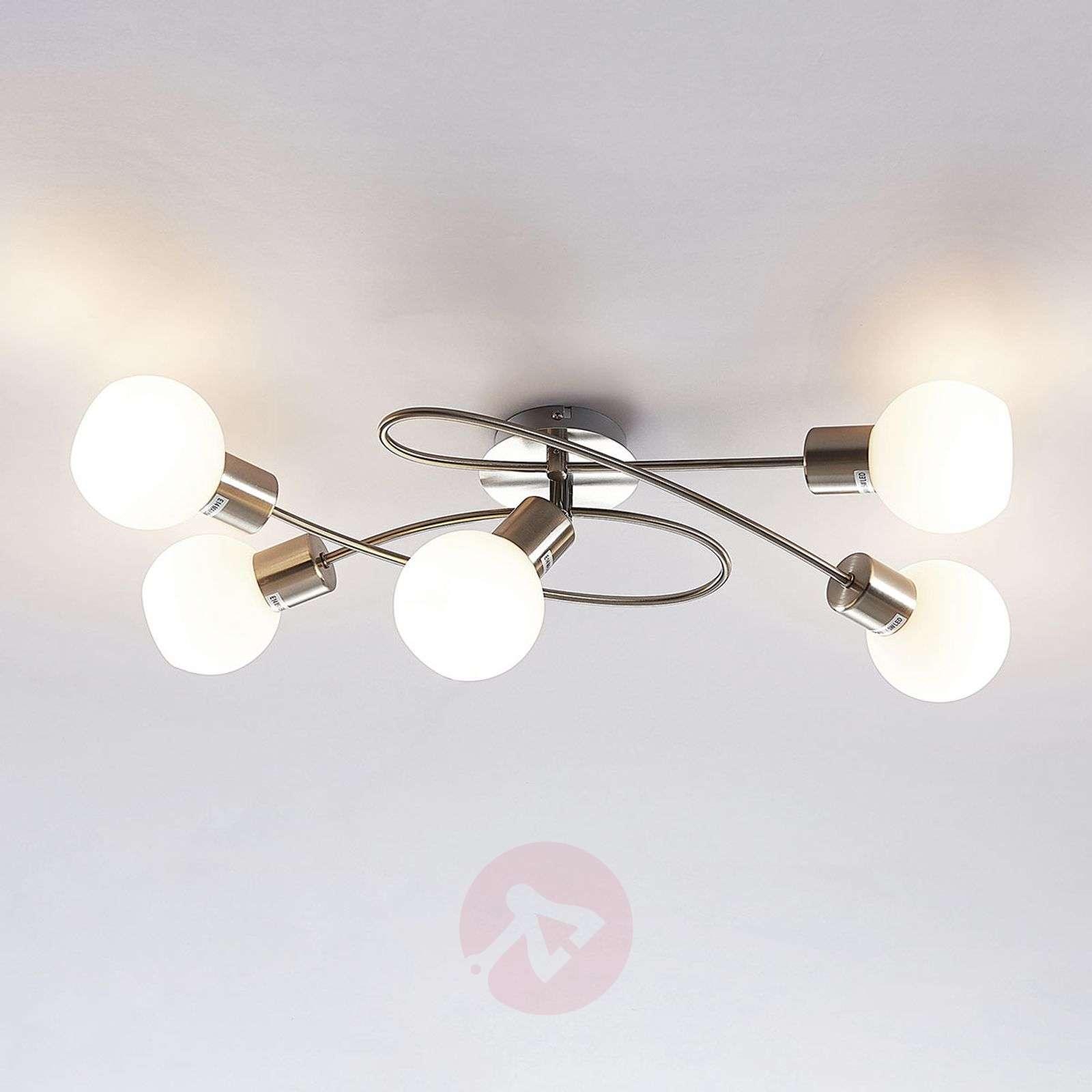 5-lampp. LED-kattovalaisin Elaina, matta nikkeli-9620033-01