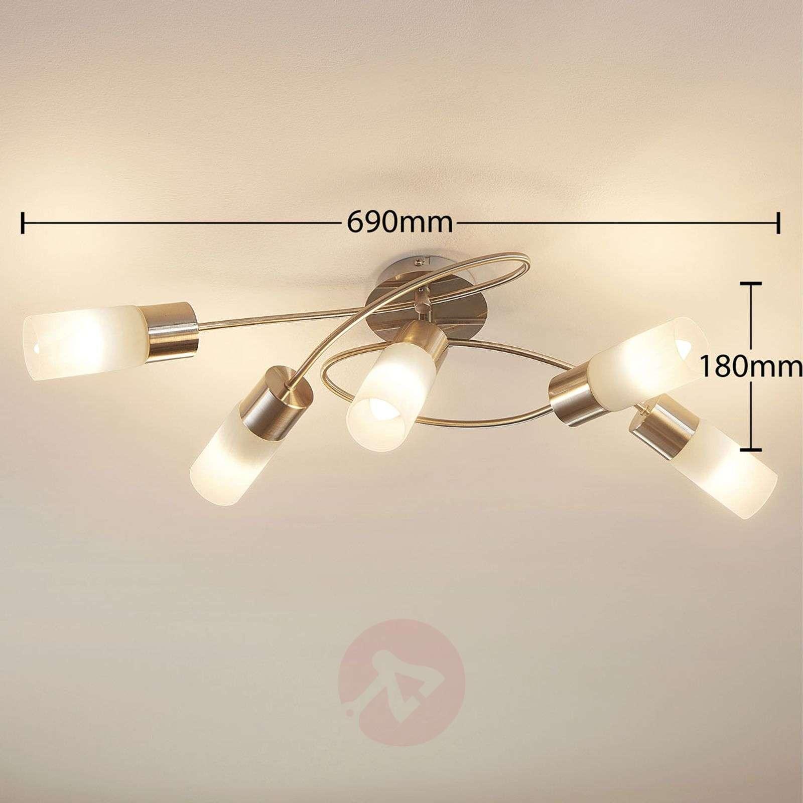5-lamppuinen himmennettävä LED-kattovalaisin Erva-9621280-02