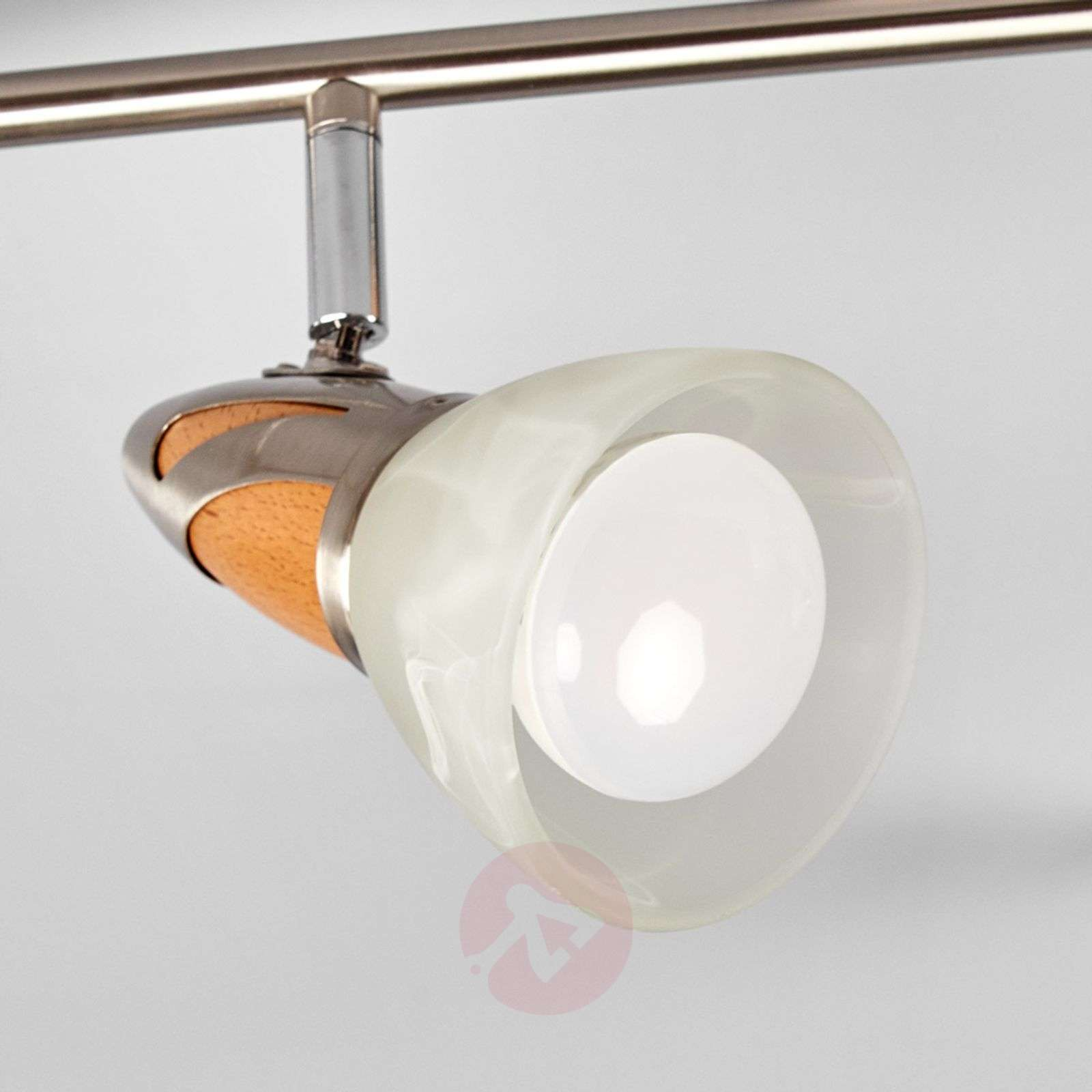 6-lamppuinen LED-kattovalaisin Marena, puuta-9620556-01