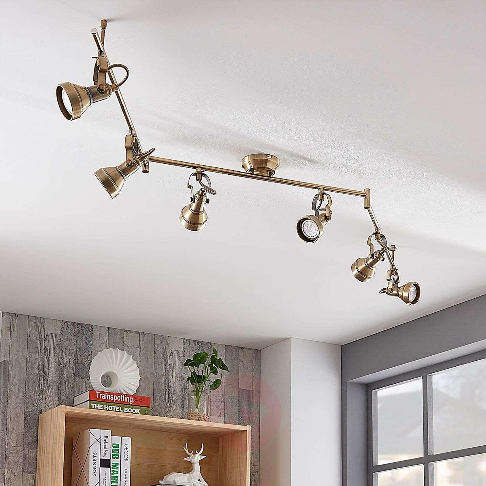 6-lamppuinen LED-kattovalaisin Perseas, GU10-LED-9620247-01