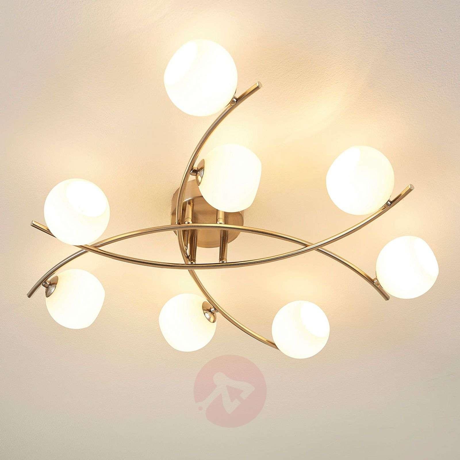8-lamppuinen kattovalaisin Muriel opaalilasia-9620570-01