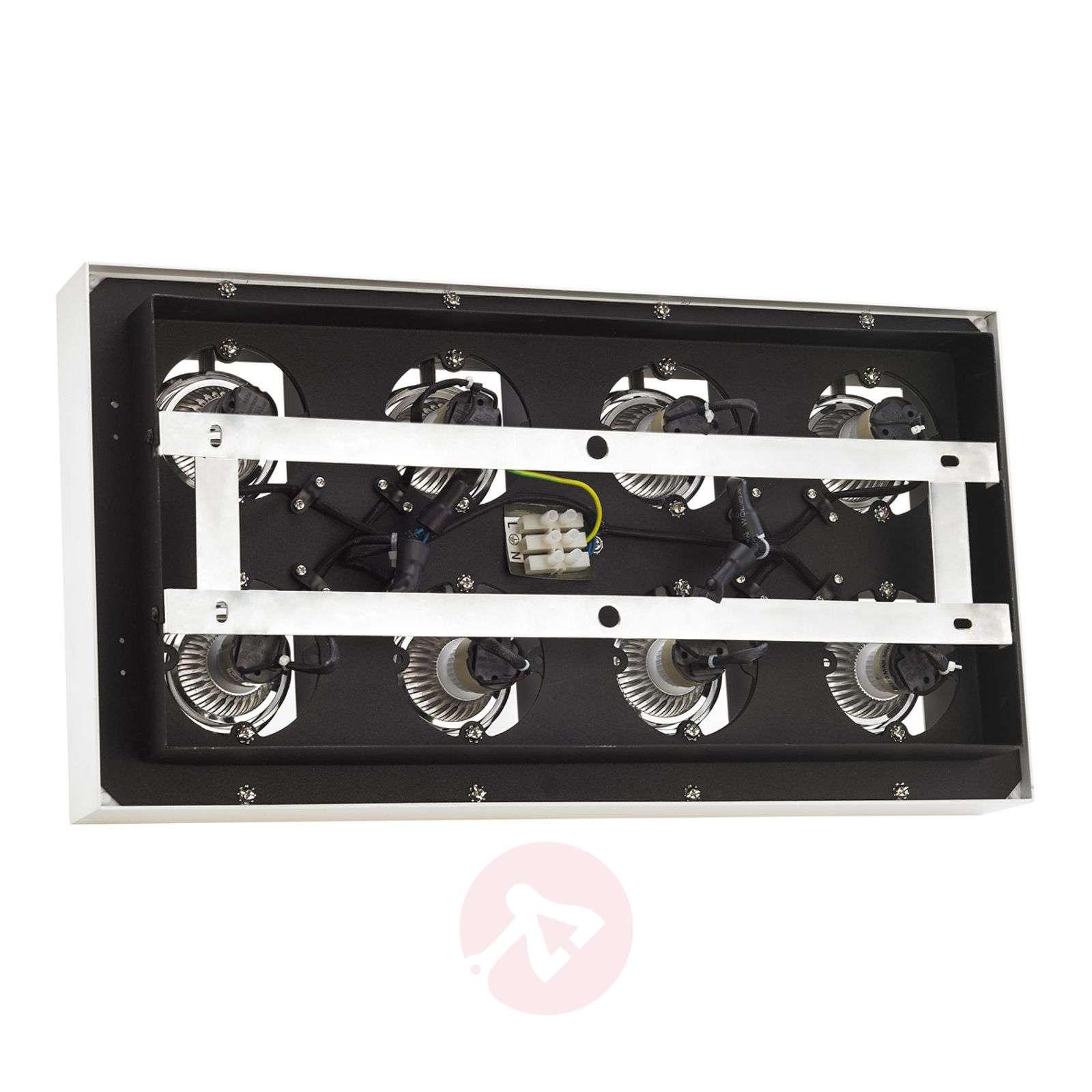 8-lamppuinen LED-kattovalaisin Vince valkoisena-9620462-01