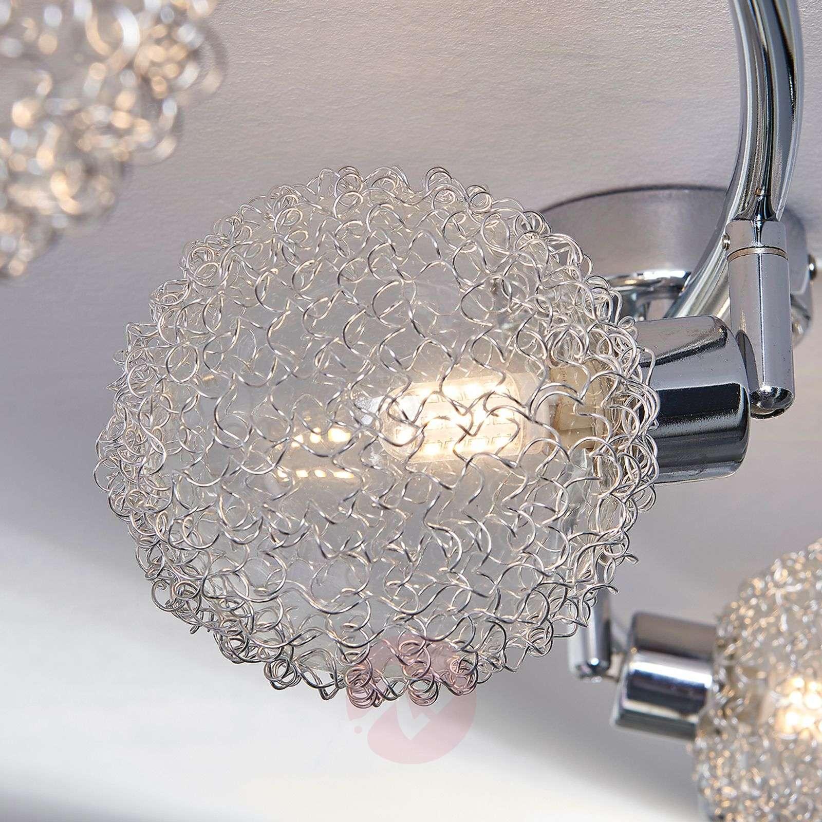 Aaltomainen G9-kattovalaisin Ticino, LED-lampuilla-9620781-03