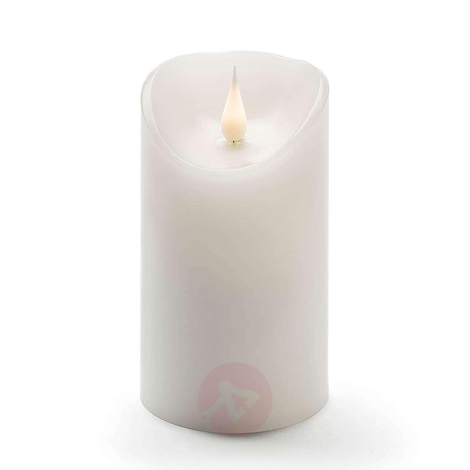 Aidolta näyttävä LED-kynttilä Aito vaha 3D-liekki-5524778-01