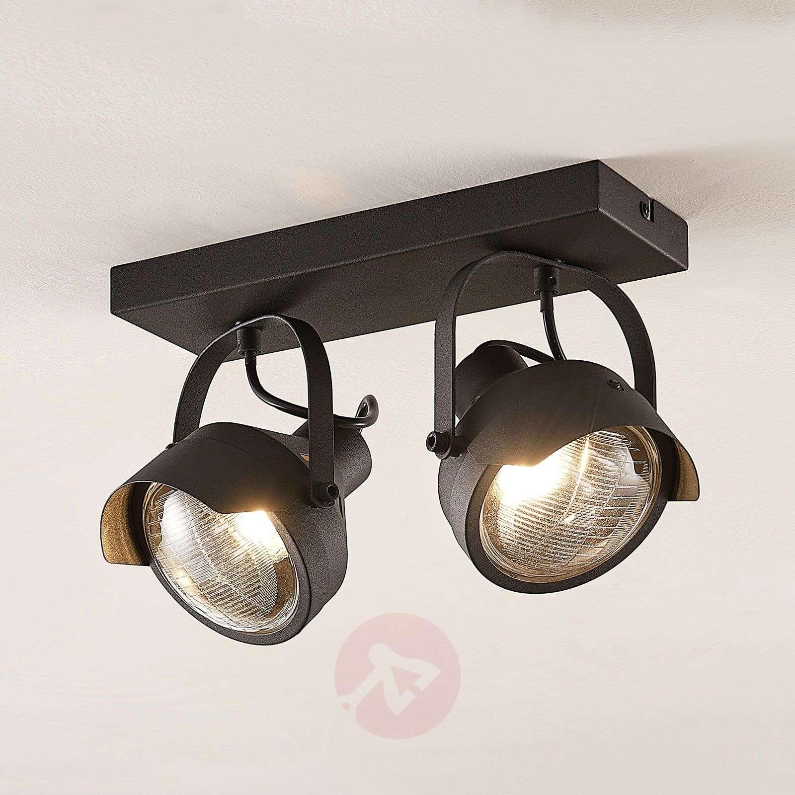 Ajovalo-kattospotti Henega musta, 2-lamppuinen-9624360-04