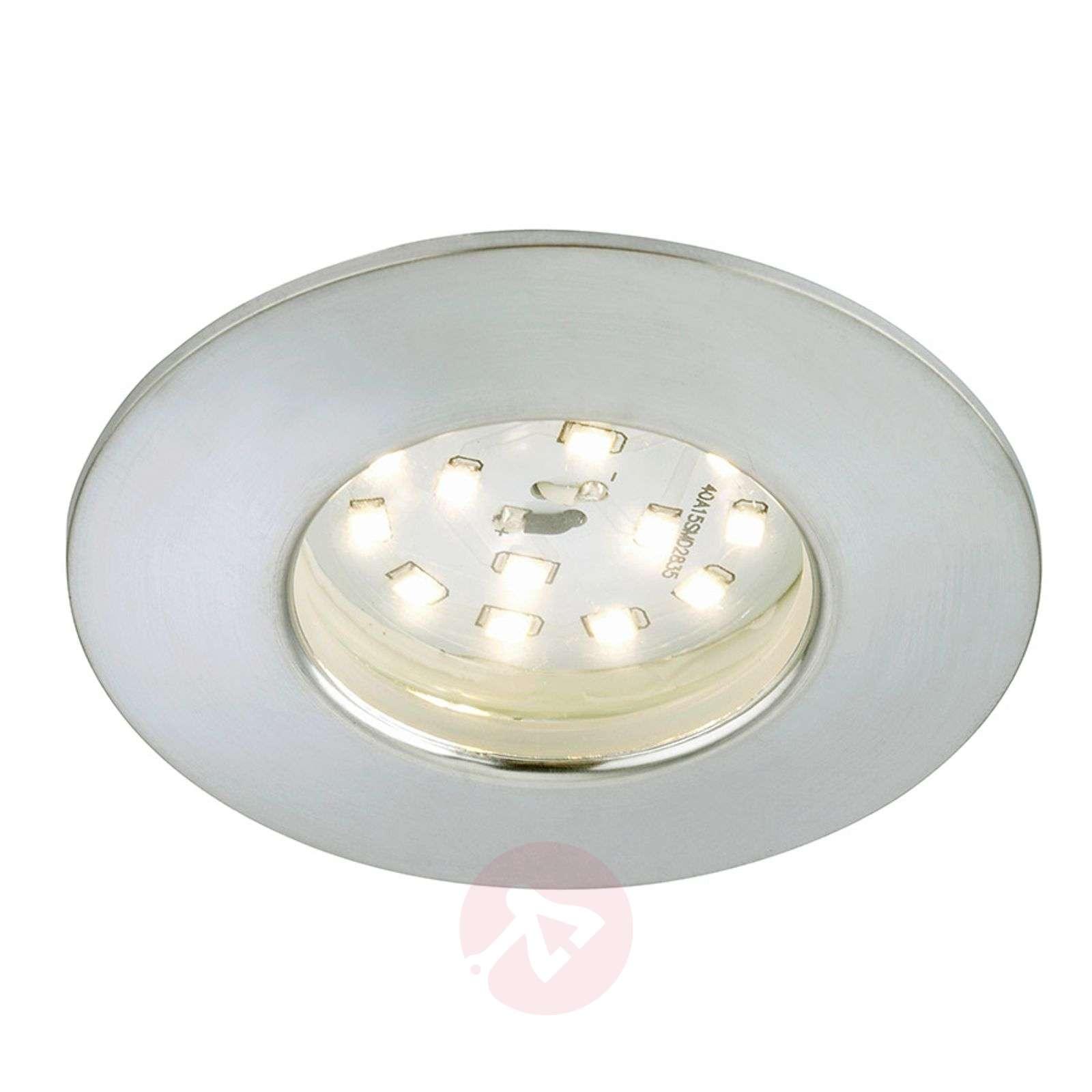Alumiininvärinen Felia-LED-uppovalaisin, IP44-1510320-01