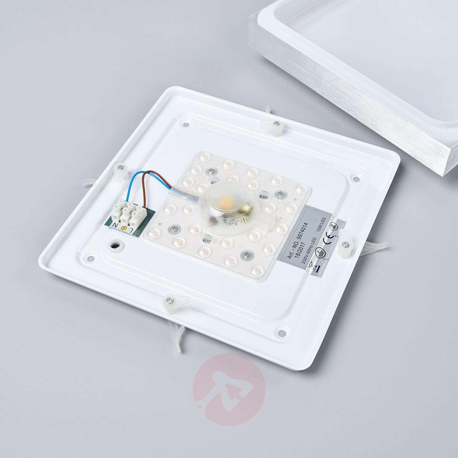 Alumiininvärinen Robito-LED-kattolamppu, neliö-9974011-01