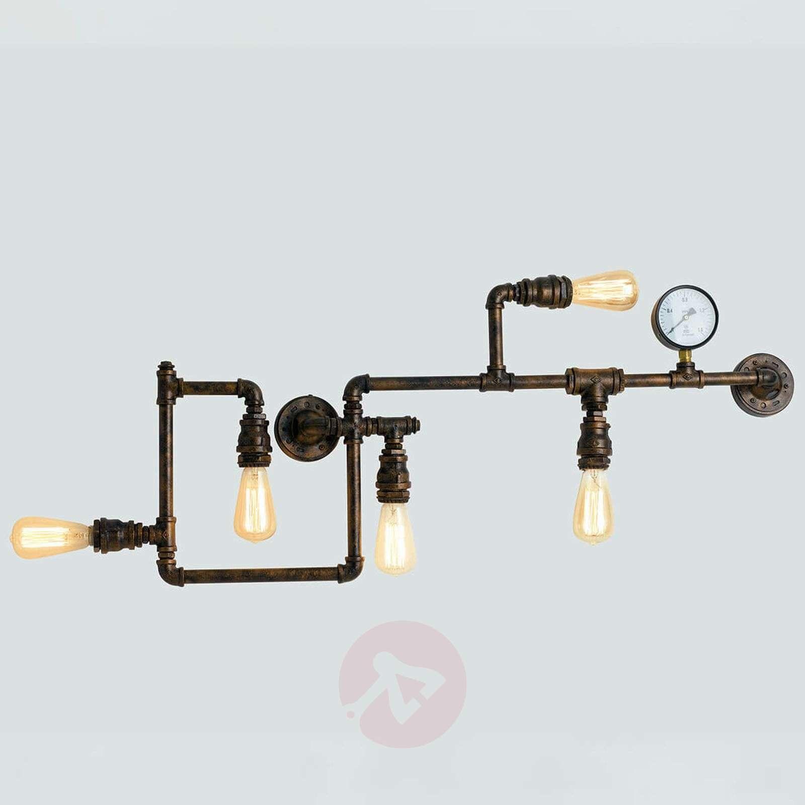 Amarcord-seinävalaisin ruosteisella putkimuodolla-3006656-01