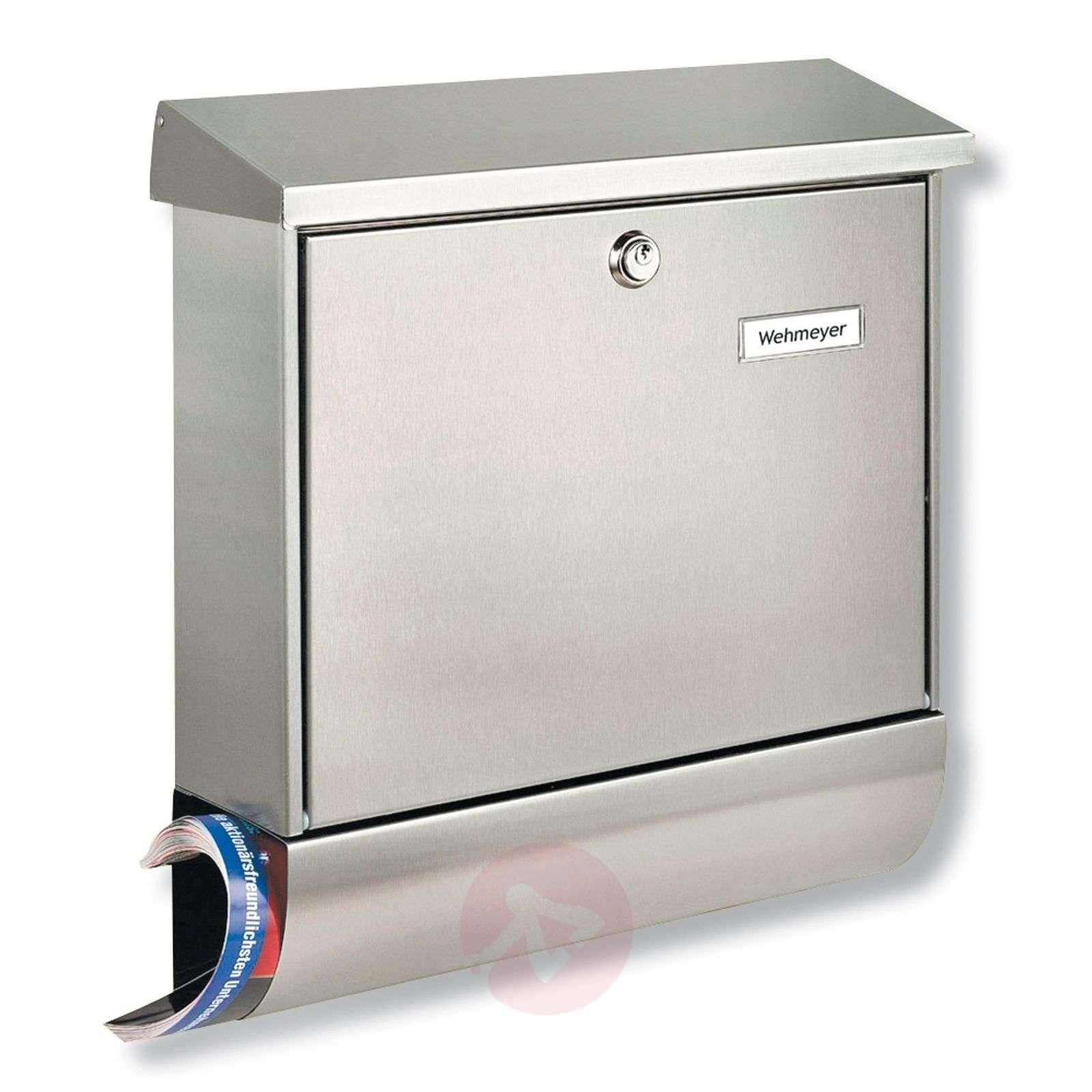 Amrum-teräspostilaatikko sanomalehtilokerolla-1532033-01