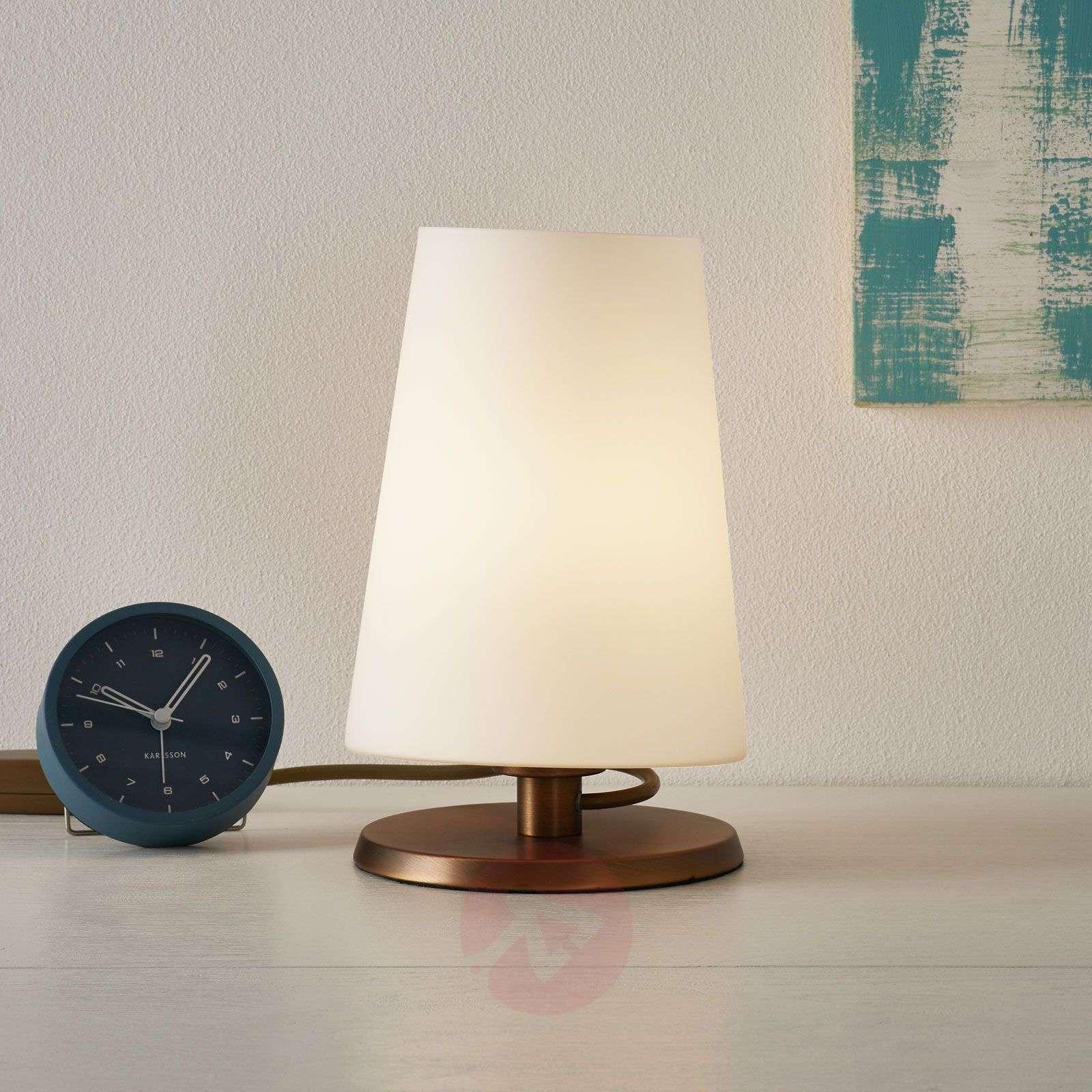 Ancilla-pöytälamppu kosketushimmentimellä, pronssi-8509745-01