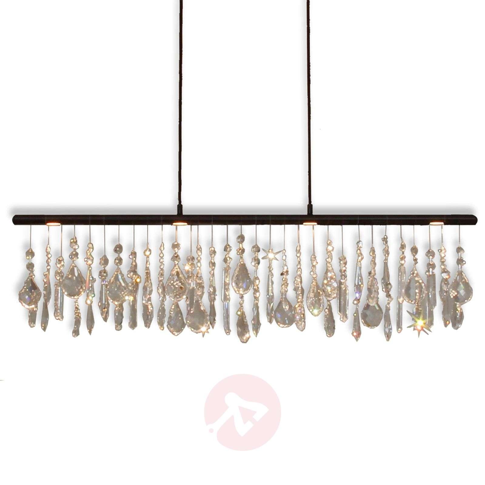 Anteo – LED-riippuvalaisin kristalliriipuksilla-6528182-01