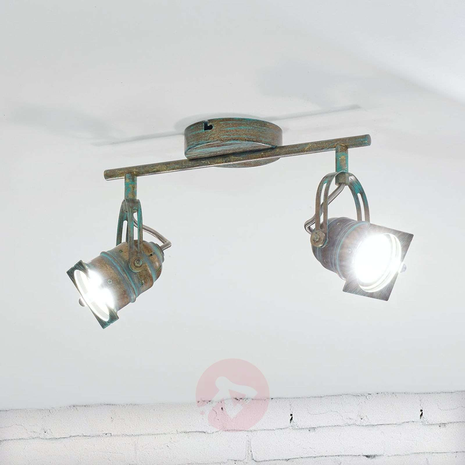 Antiikkimainen LED-kohdevalo Janek, kuparinvihreä-9639084-01