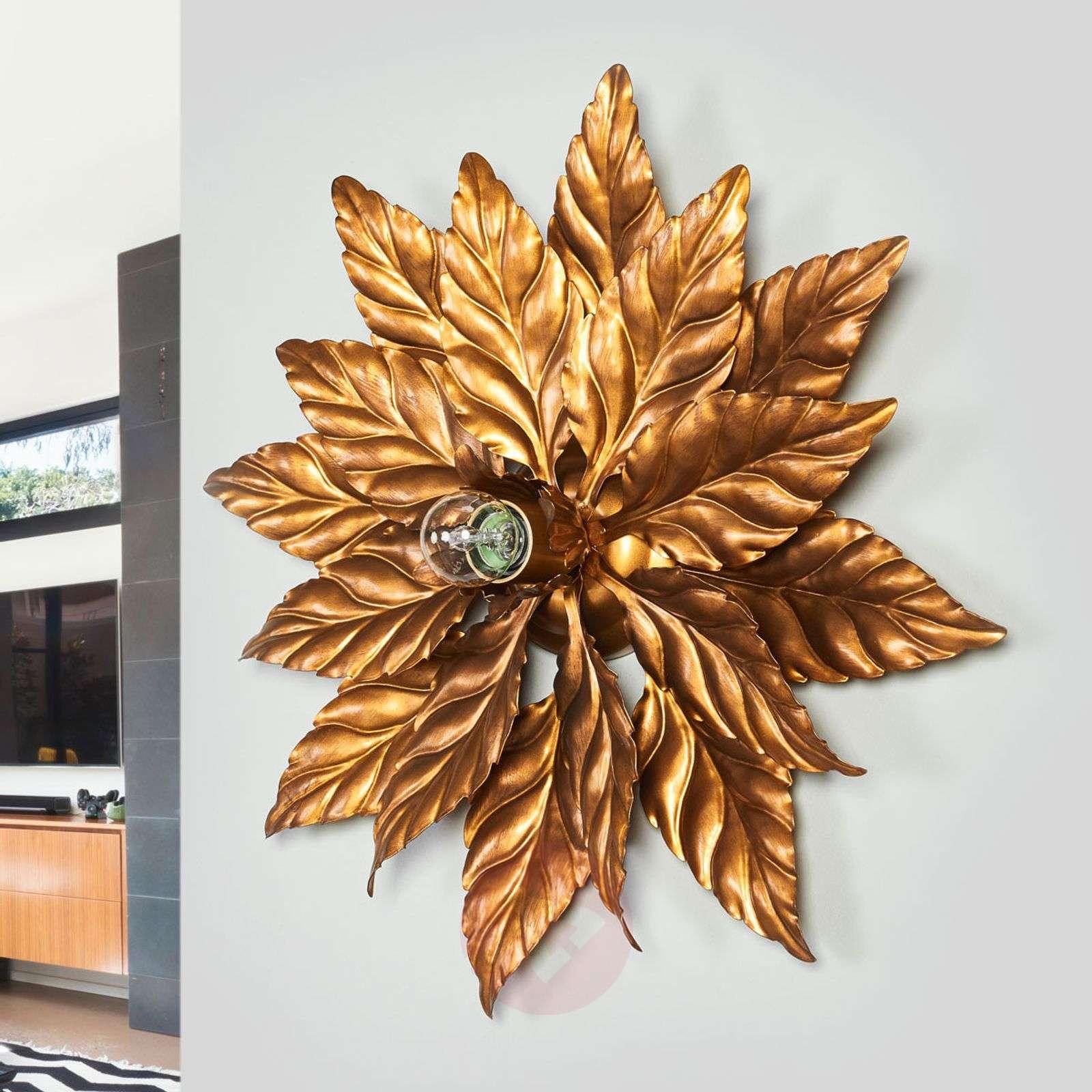 ANTIK-kattovalaisin kultaisilla lehdyköillä 40 cm-5505291-01