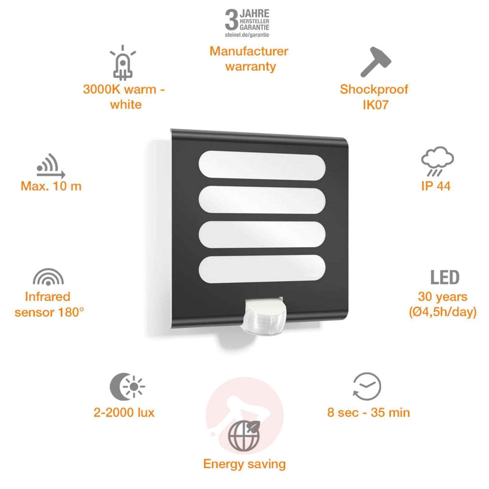 Antrasiitin värinen LED-seinävalaisin L224 tunn.-8505705-01