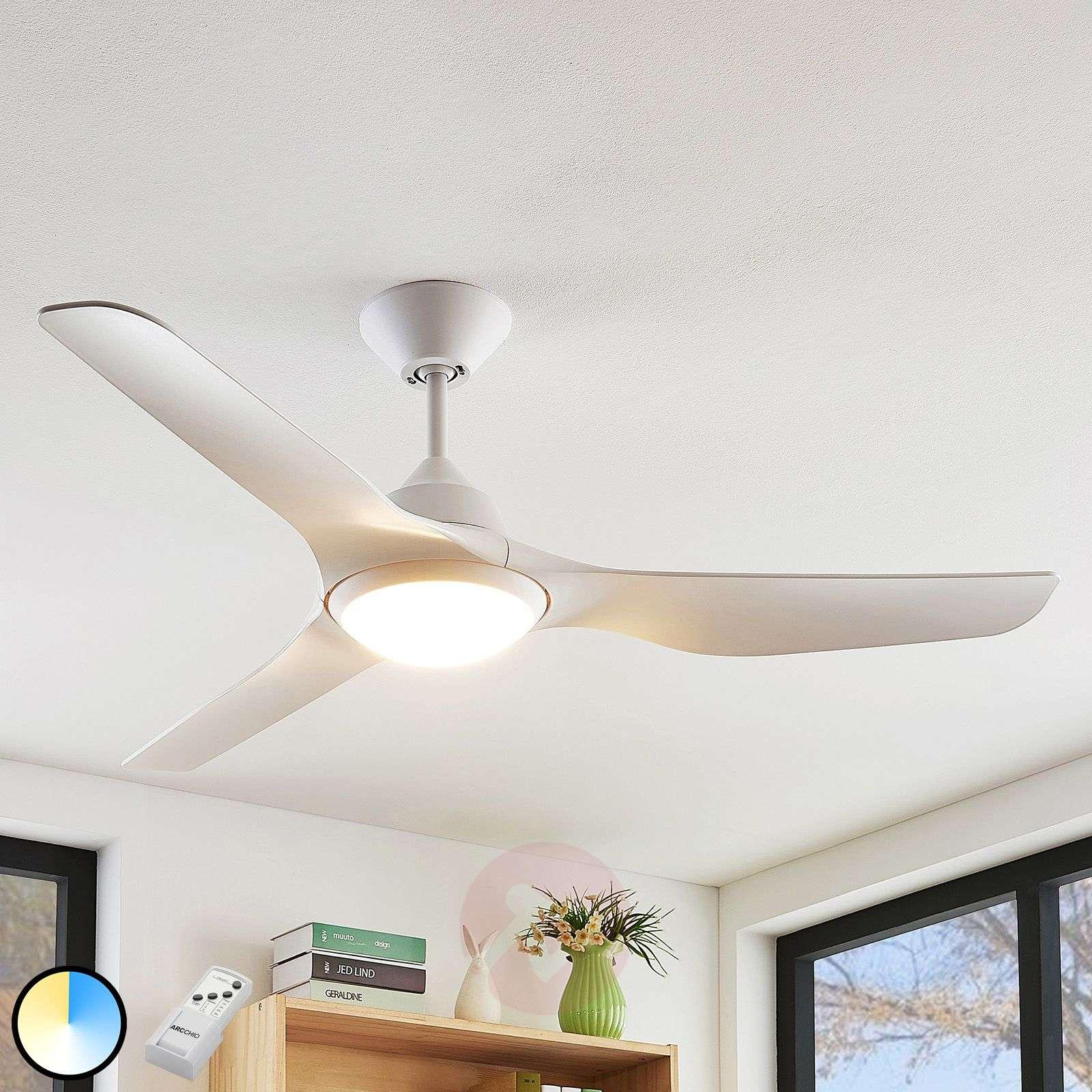 Arcchio Pira LED-kattotuuletin 3 siivekettä, valk-9624666-02