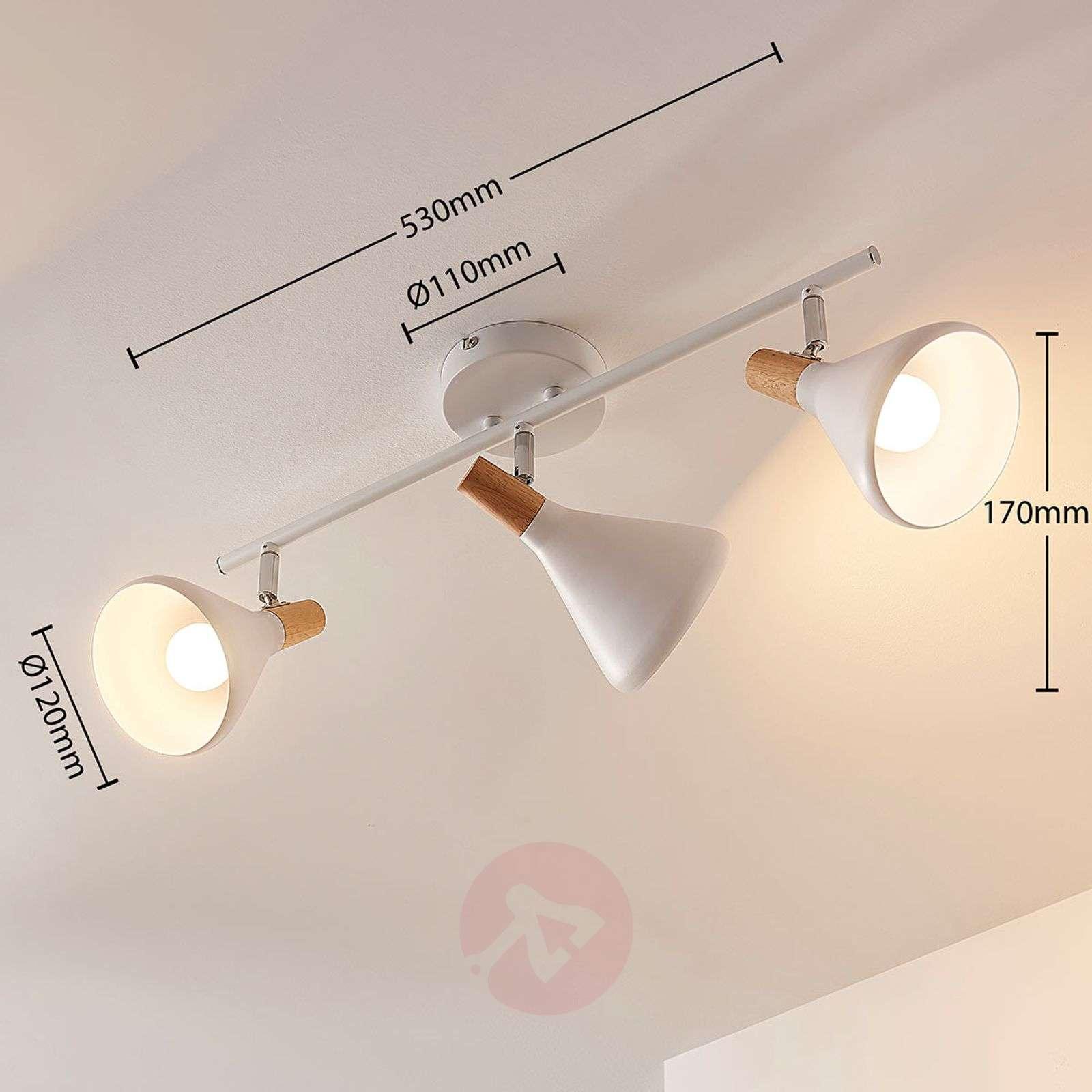 Arina – 3-lamppuinen valkoinen LED-kattovalaisin-9621806-02