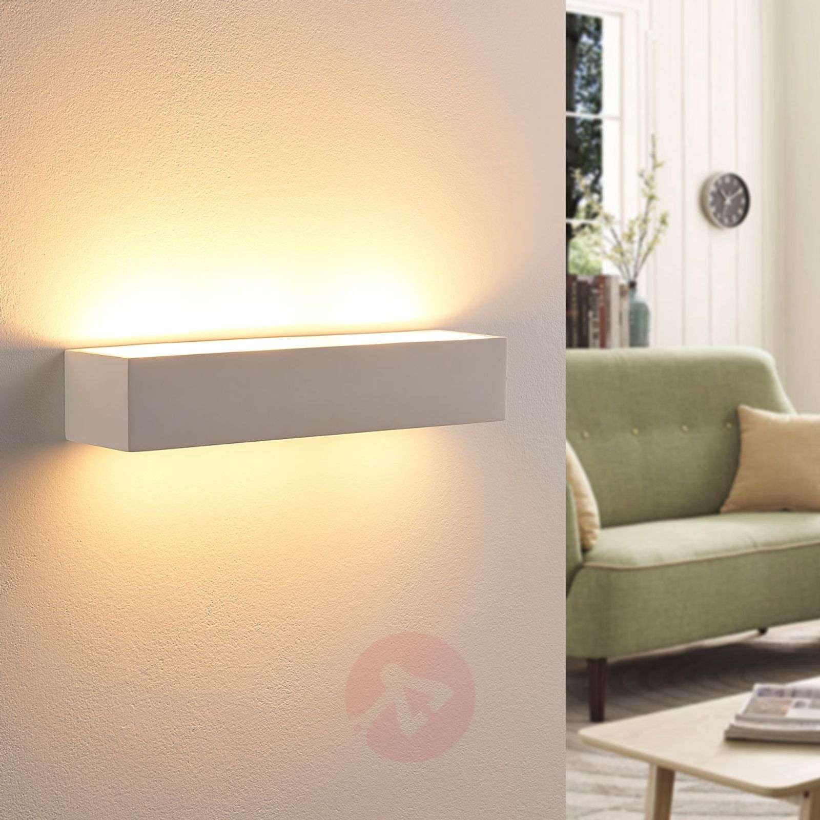 Arya – LED-seinävalaisin valkoista kipsiä-9621322-01