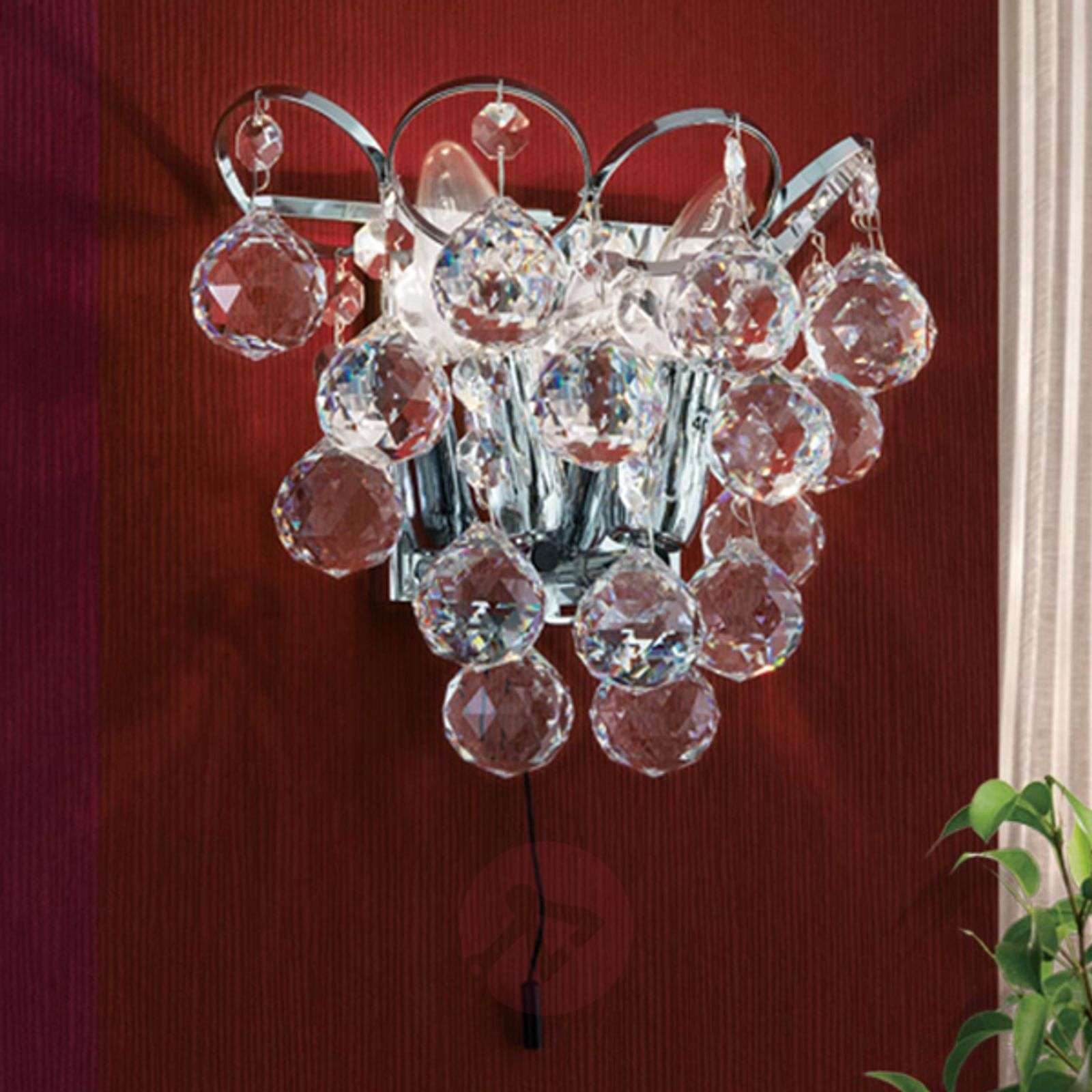 Auguste-kristalliseinävalaisin, kromattu-7255215-01
