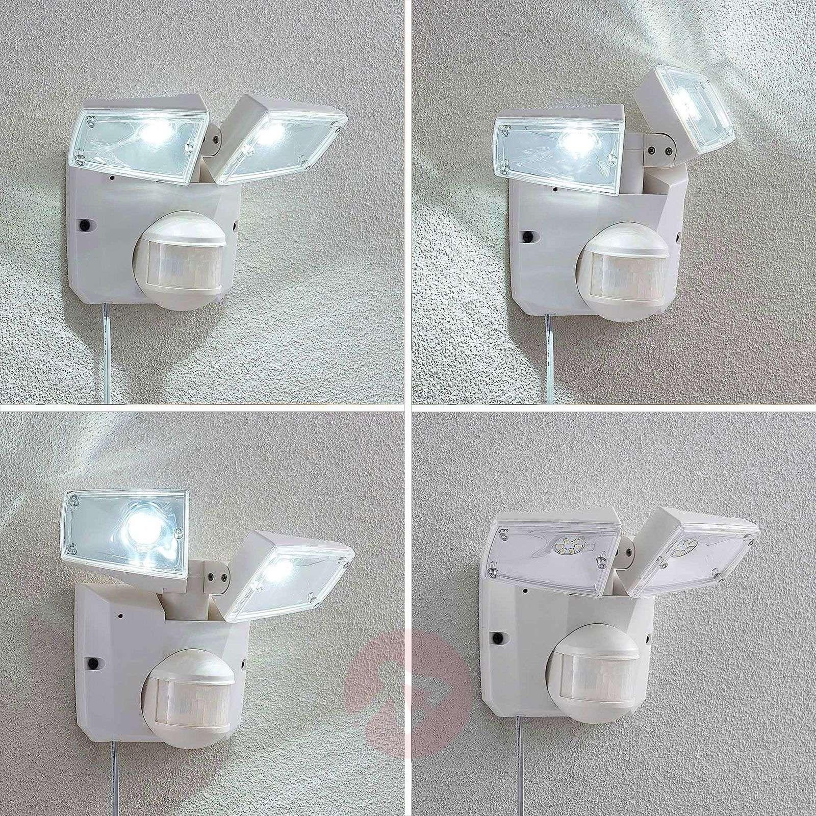 Aurinkok. LED-kohdevalaisin Ignaz, 2-lampp., valk.-4018159-02
